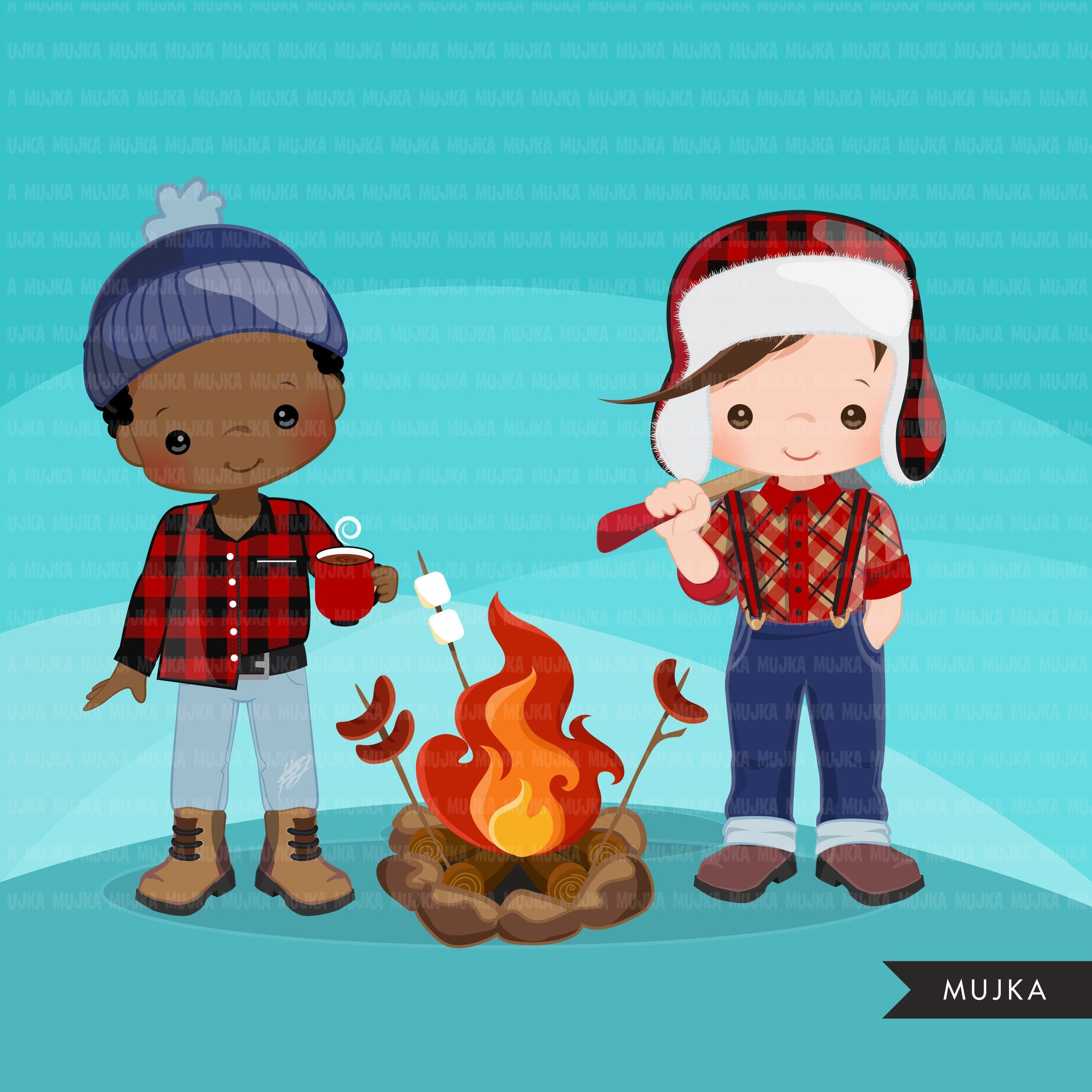 Lumberjack Clipart. Boy version