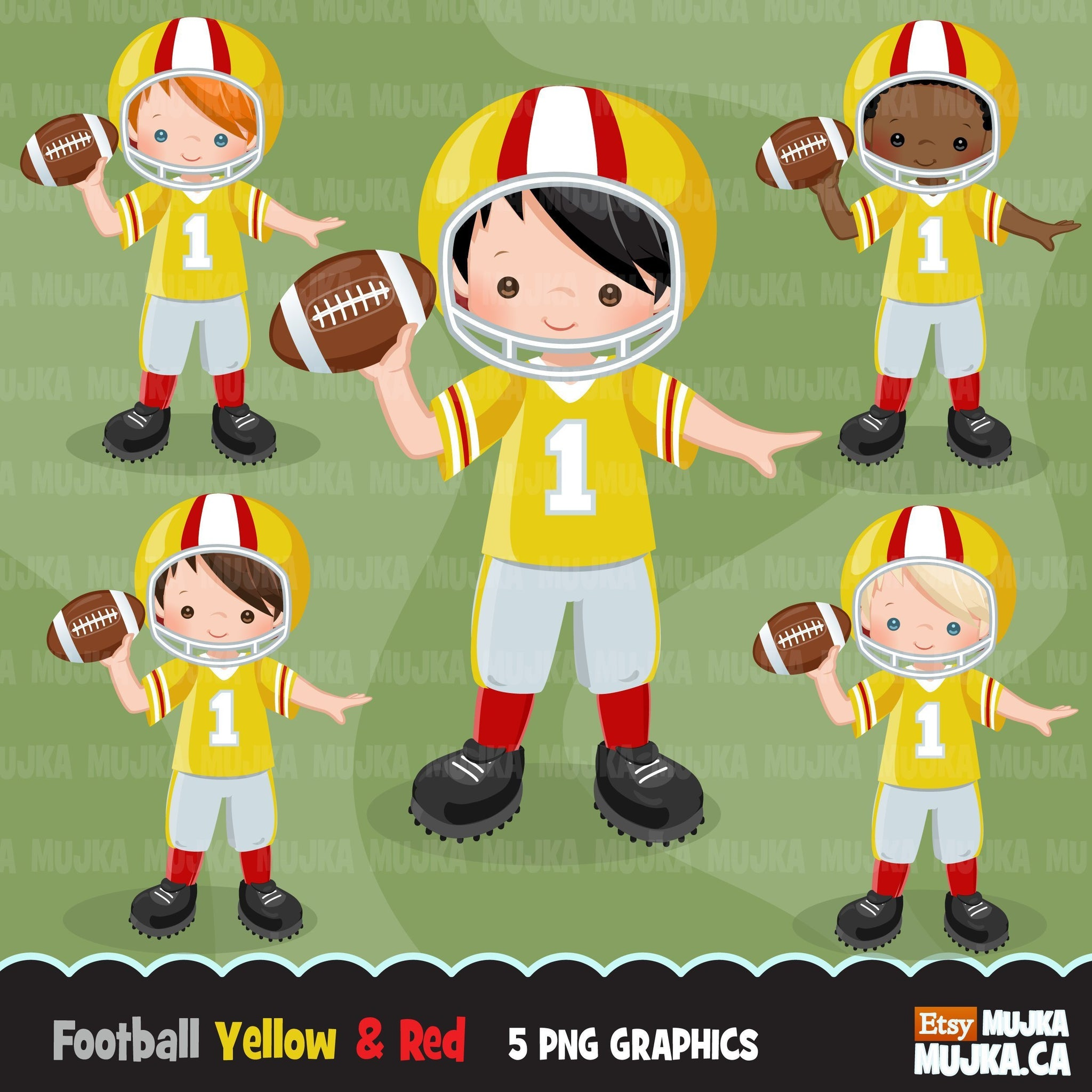 Football Boy clipart