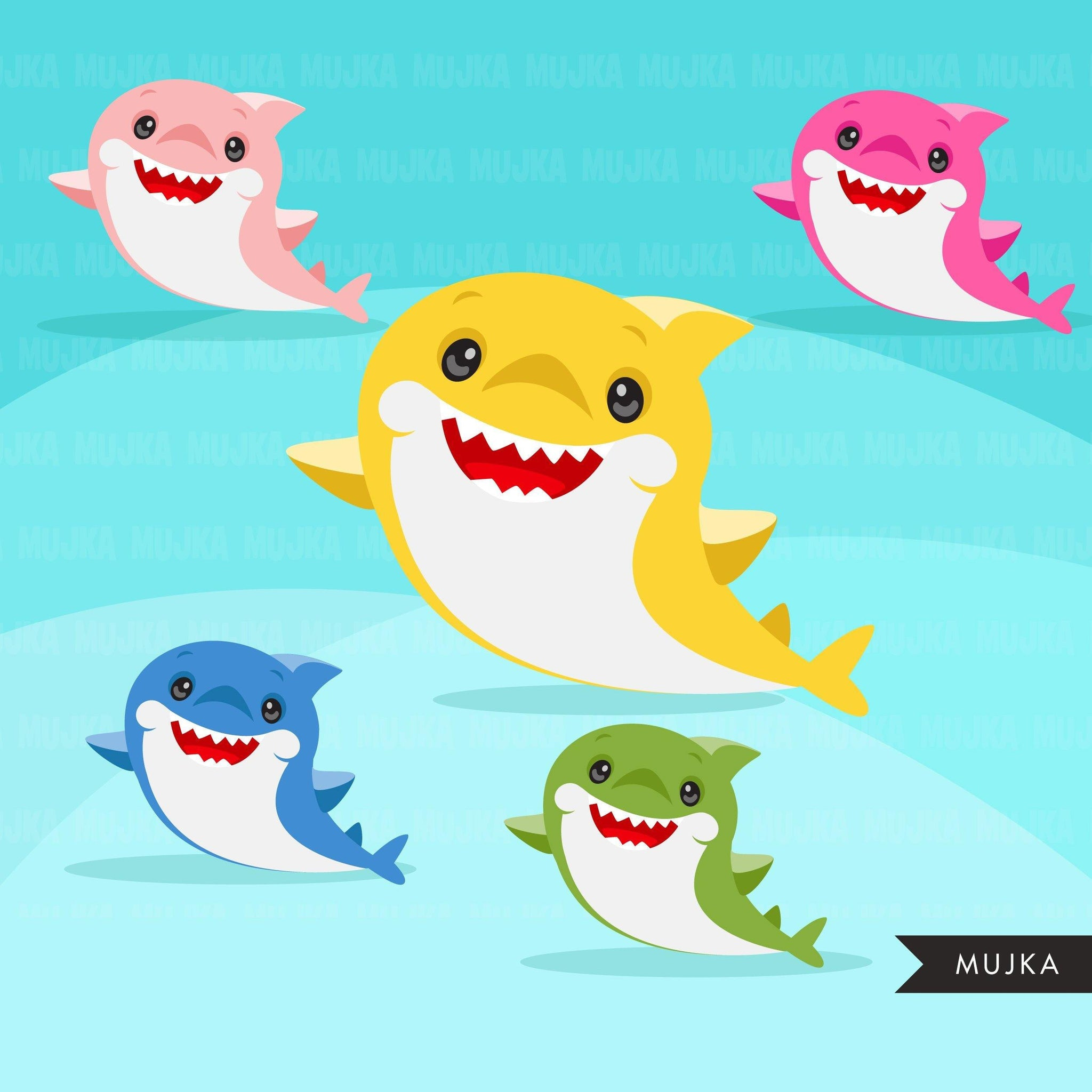 Baby Shark, animal clipart