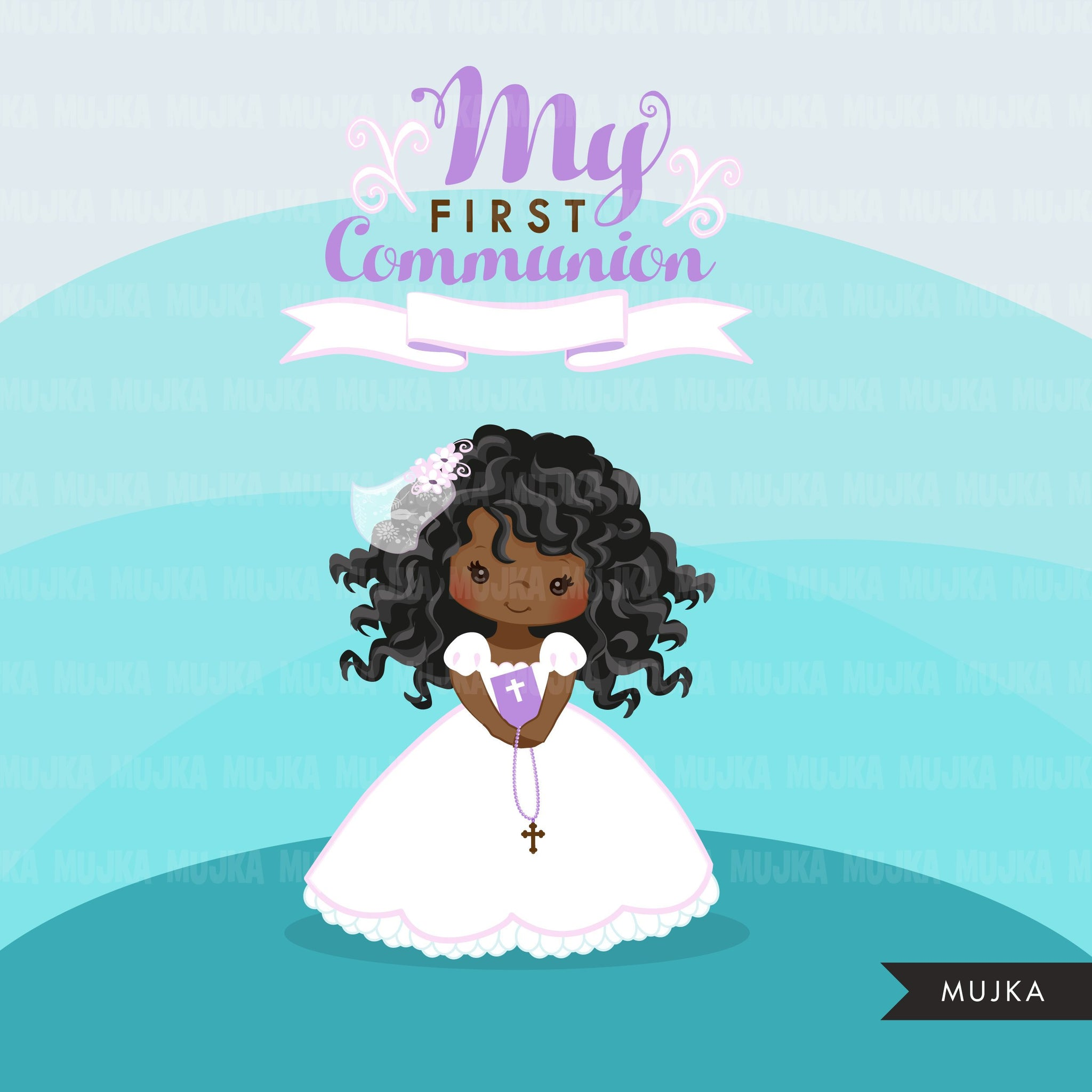 First Communion Clipart for Girl religious