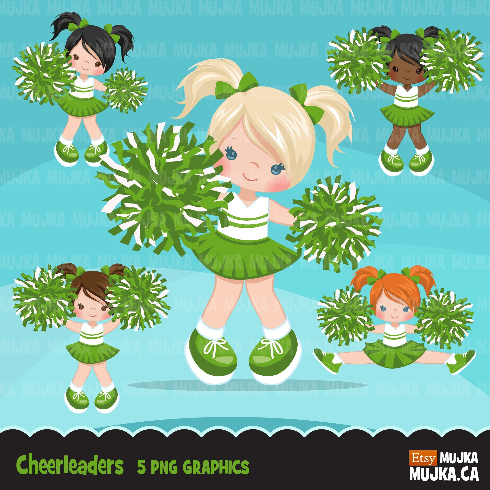 Cheerleader Clipart. Sporty Girl