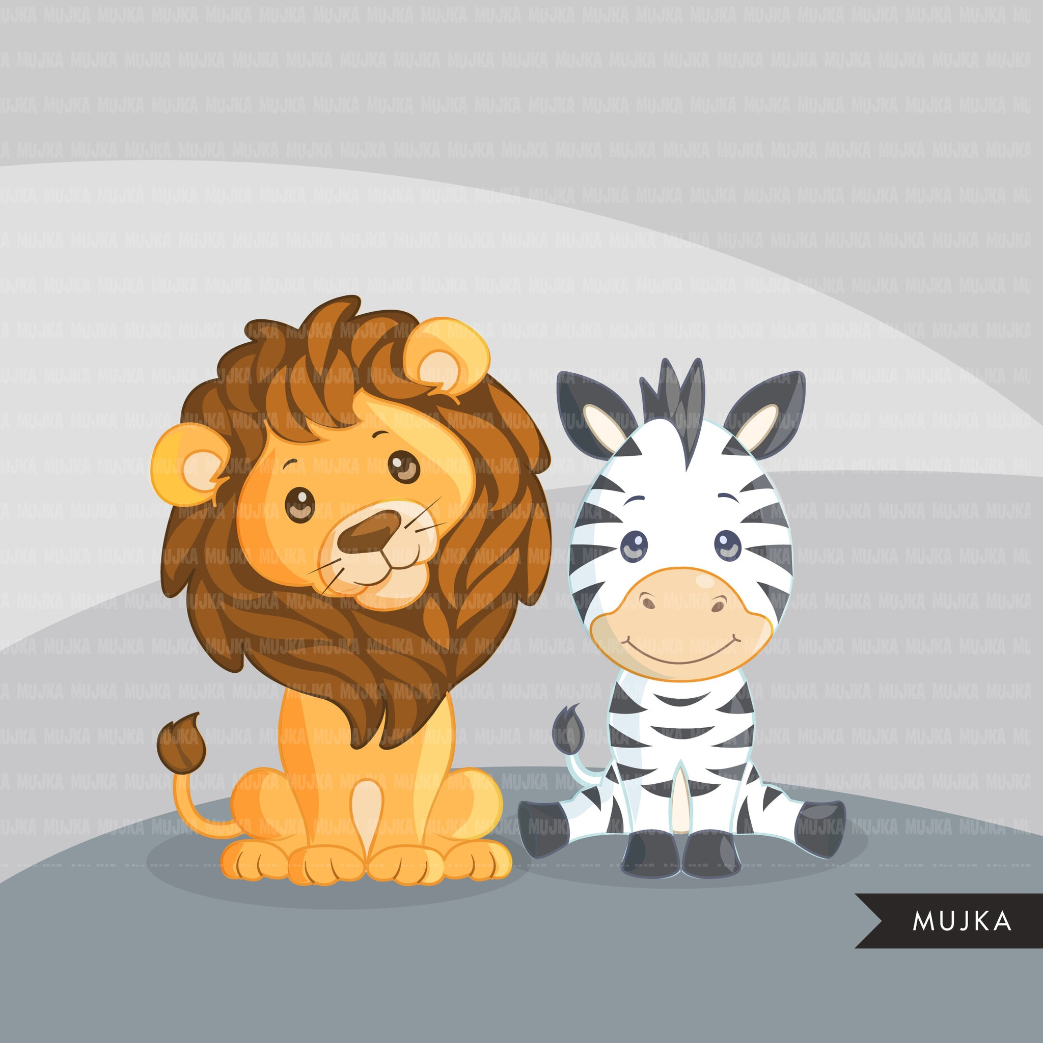 Safari animals clipart