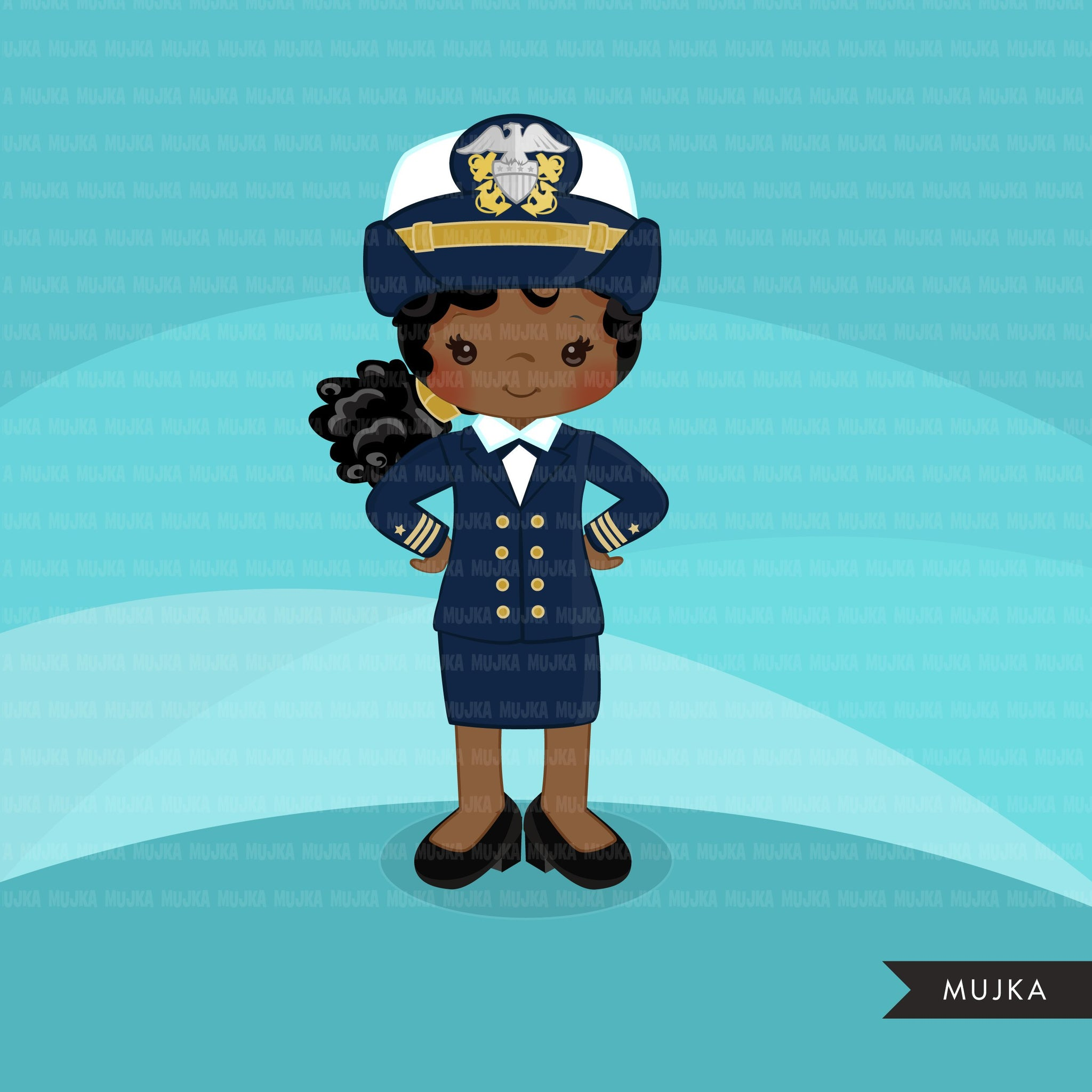 Girl Navy Officer Clipart