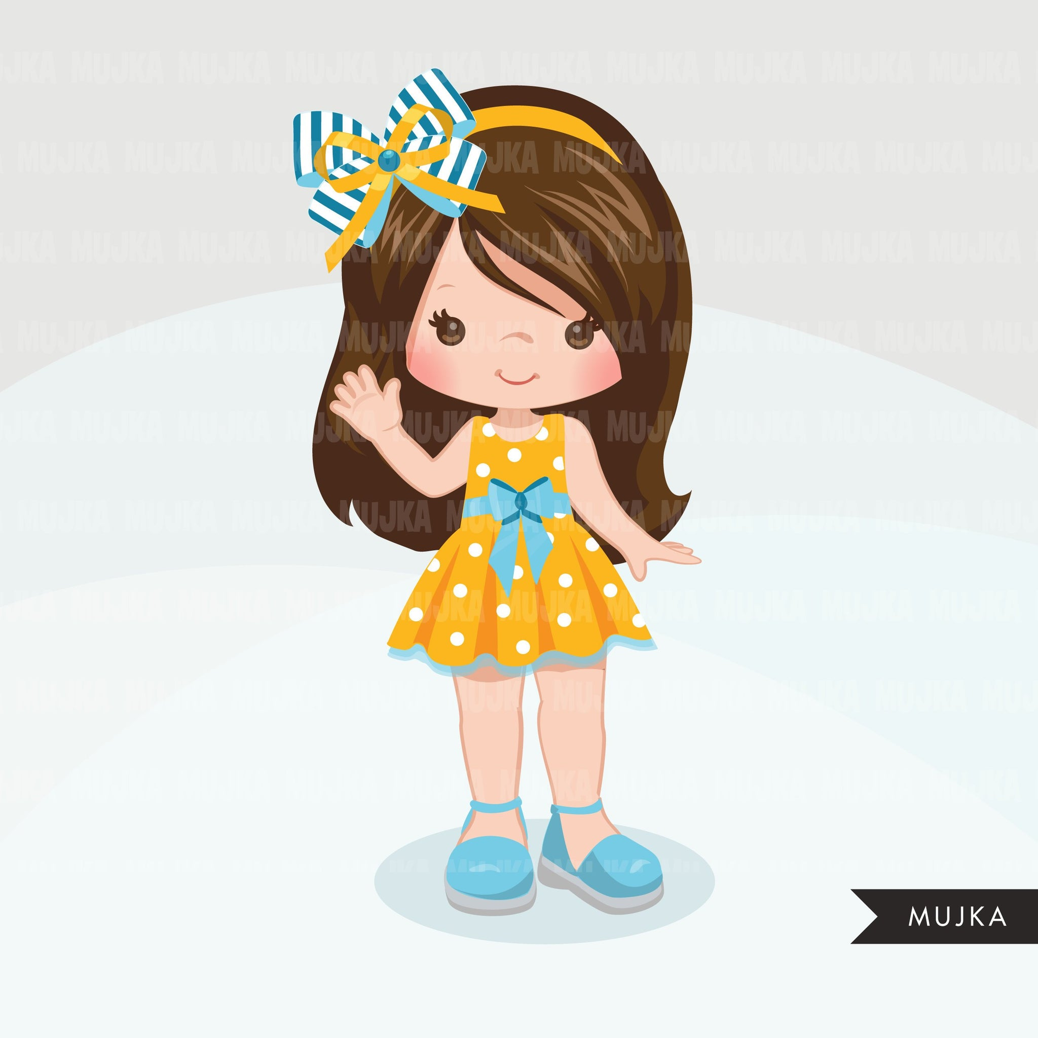 Hair bows and ribbons clipart