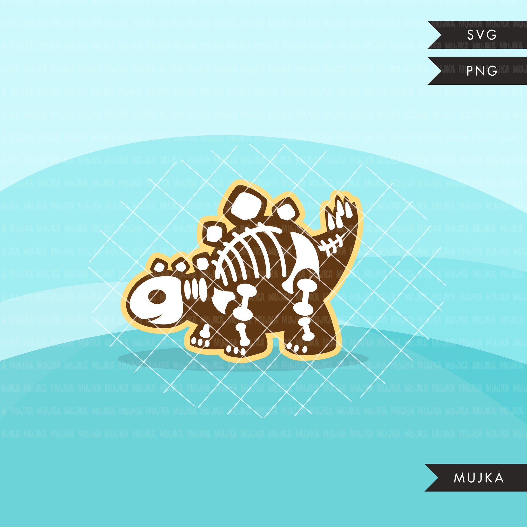 Dinosaur skeleton, animal SVG cutting file