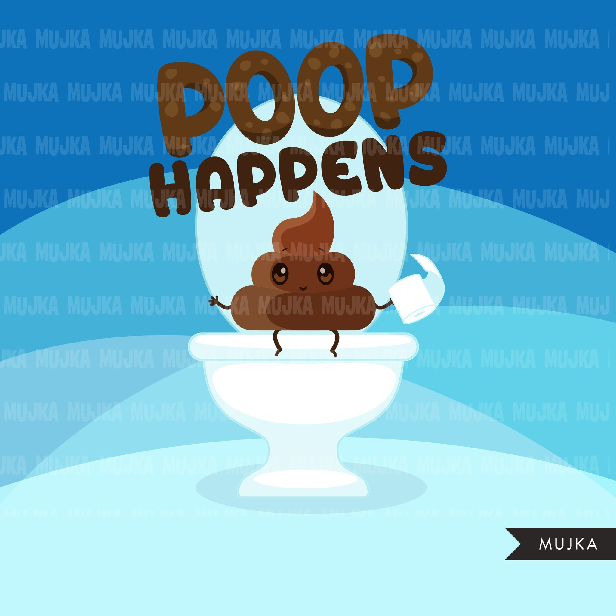 Potty Training Clipart for Boys