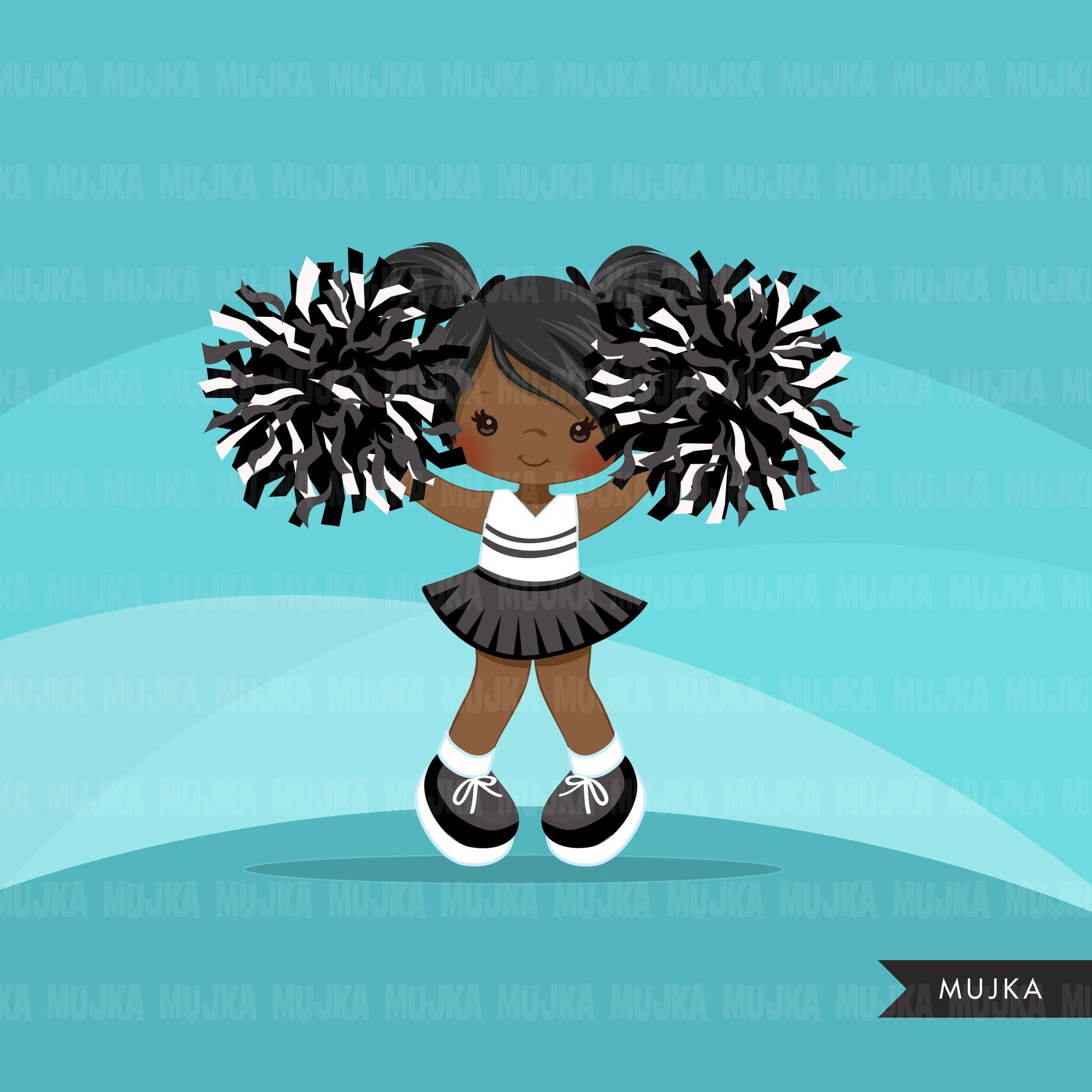 Cheerleader Clipart. Sports Graphics, Blonde girl