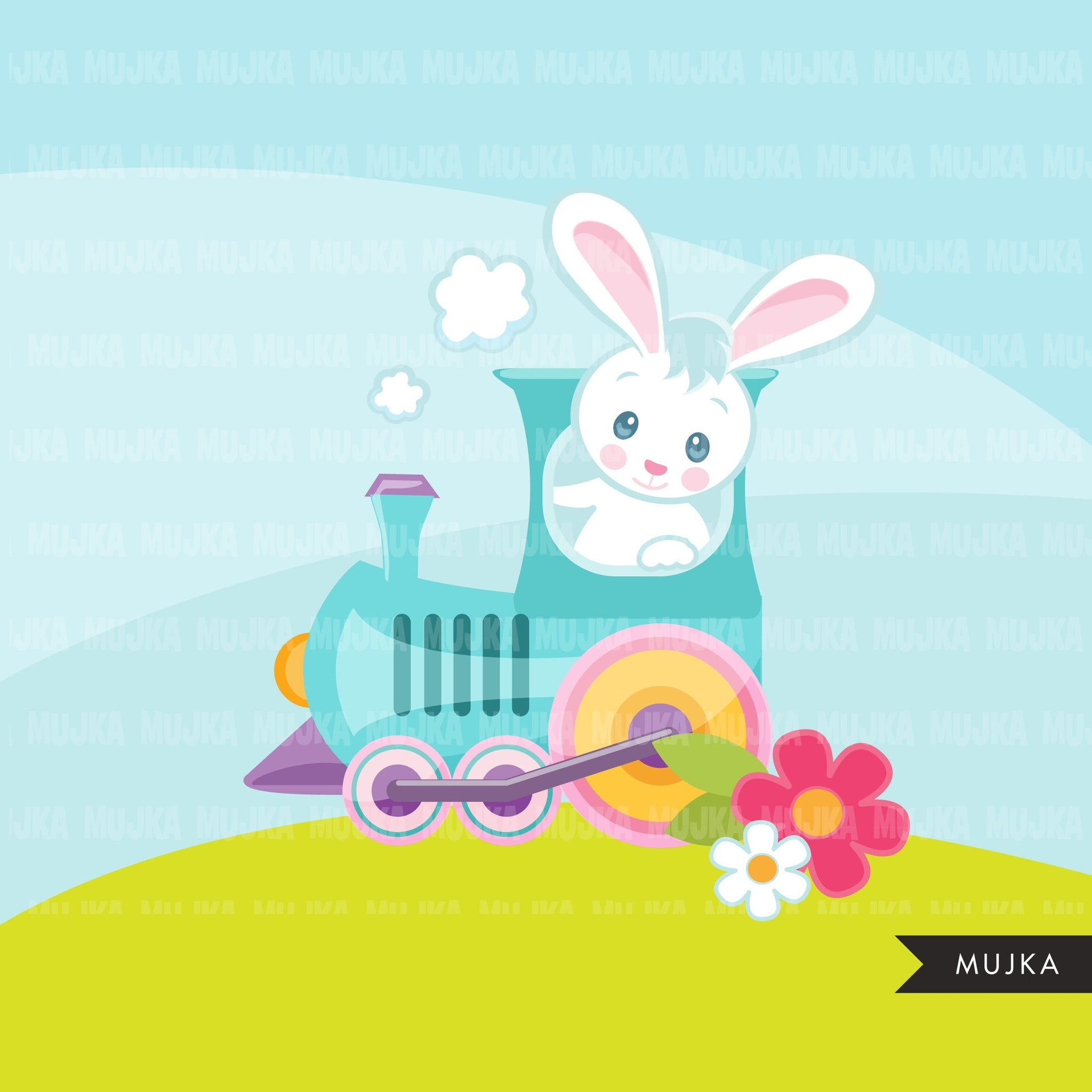 Easter Train Clipart