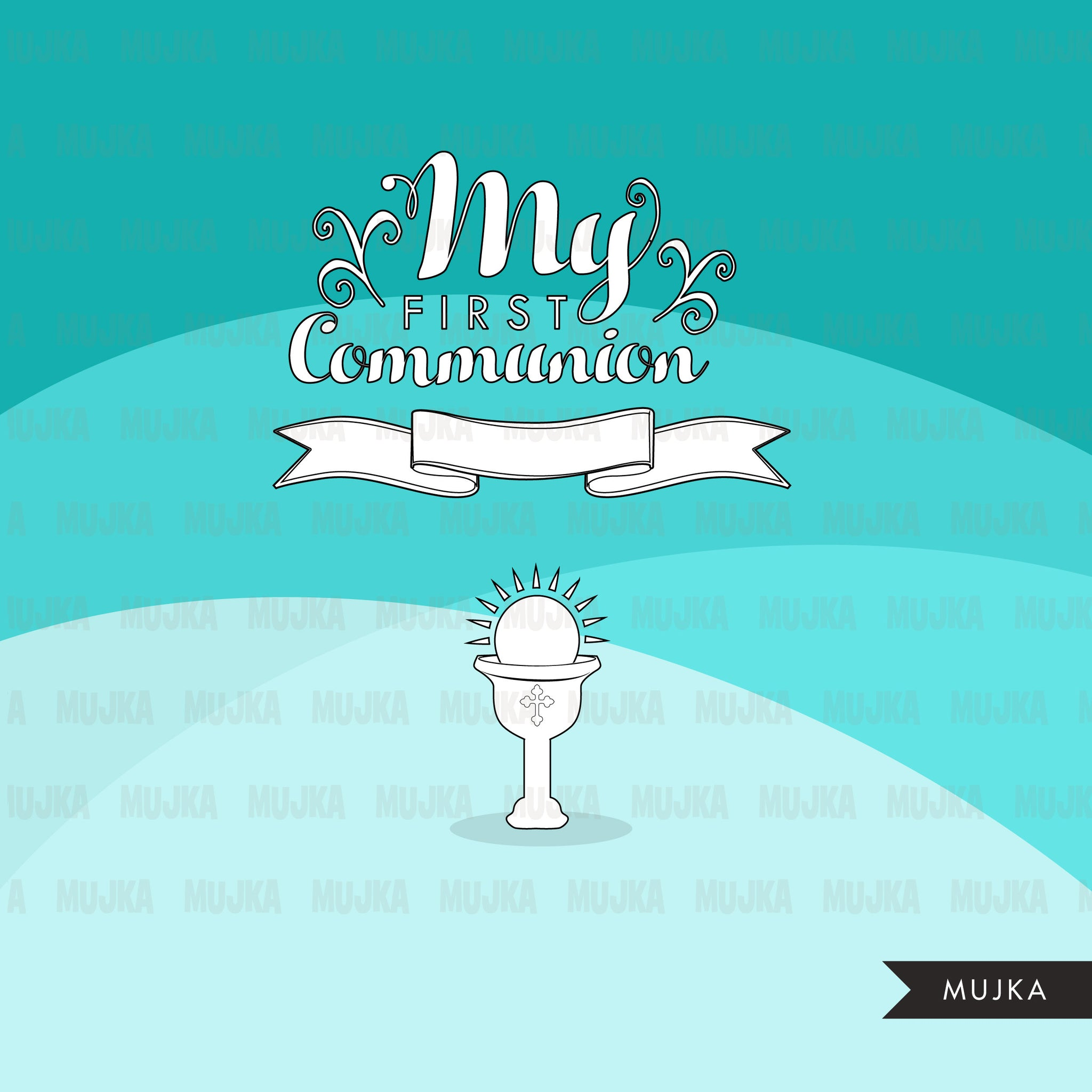 First Holy Communion Digital Stamps religious