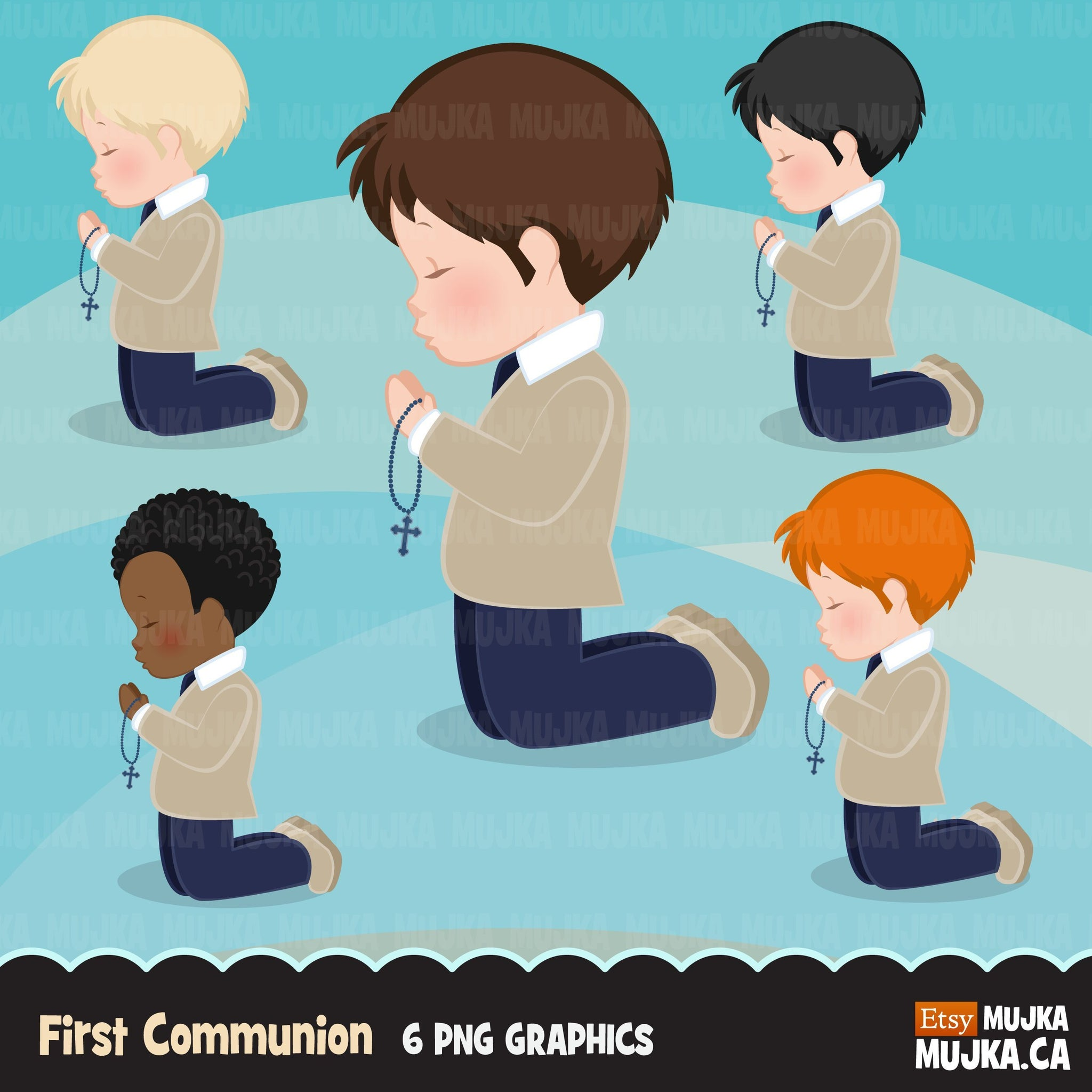 First Communion Clipart for Boy religious
