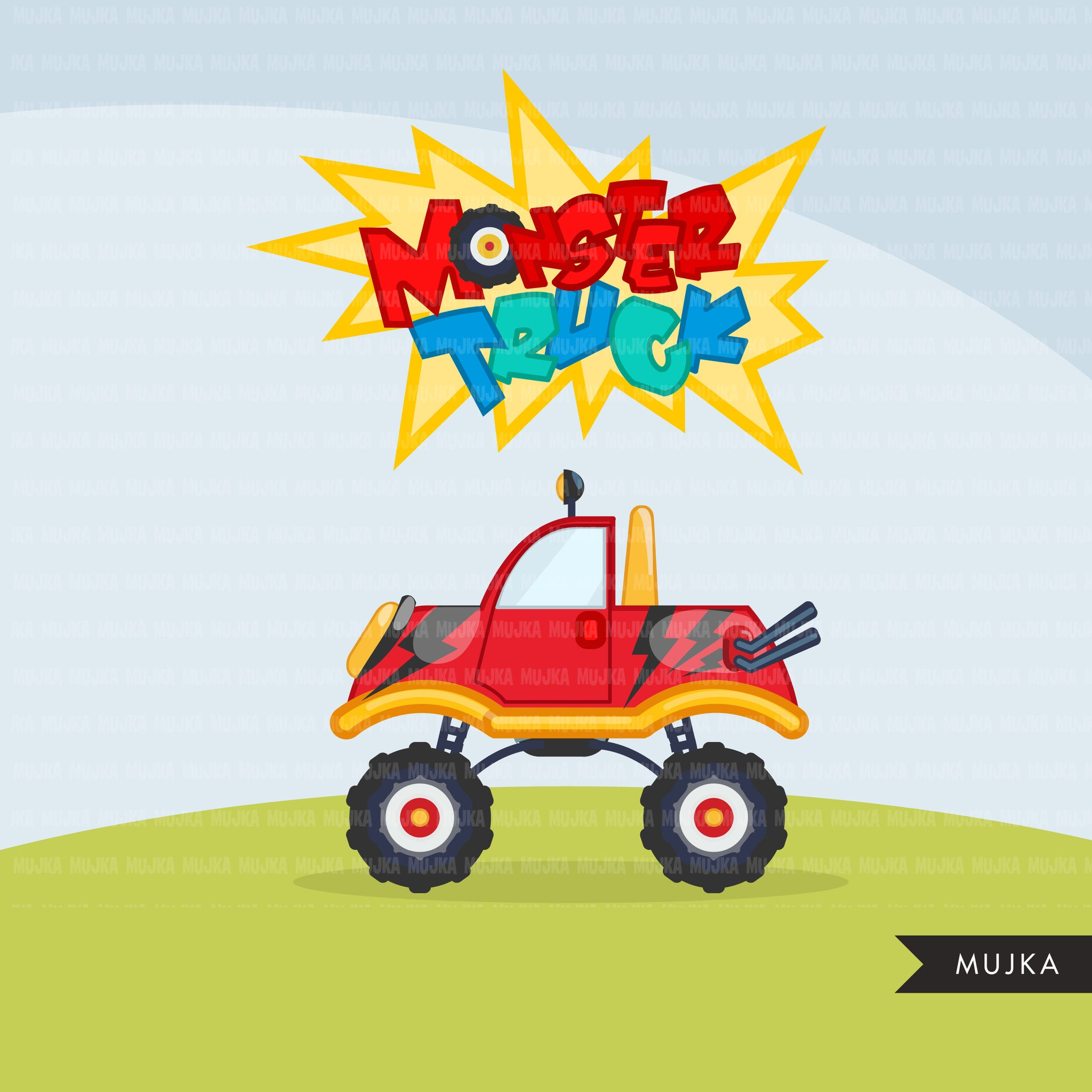 Monster truck clipart