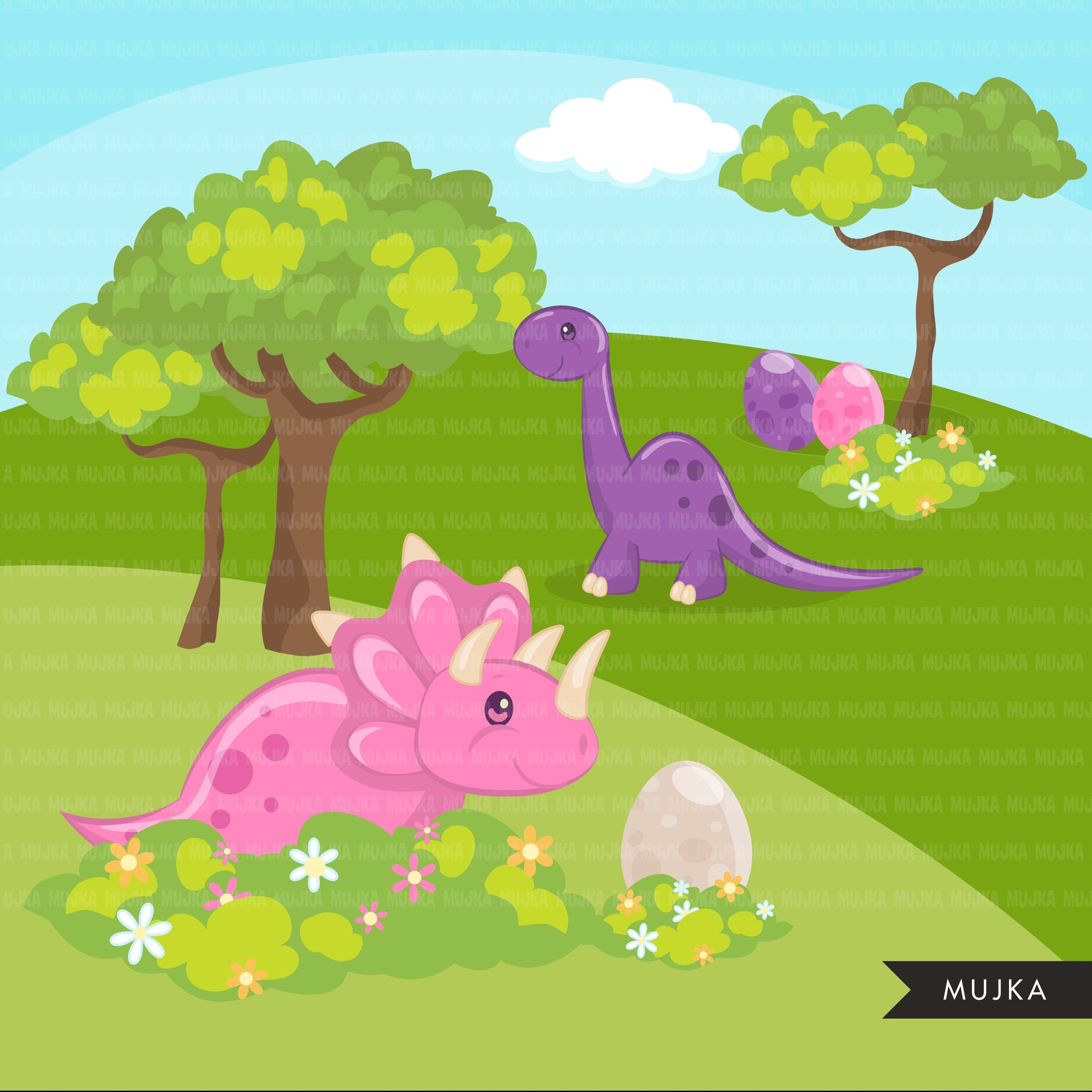Dinosaur, cute animal clipart