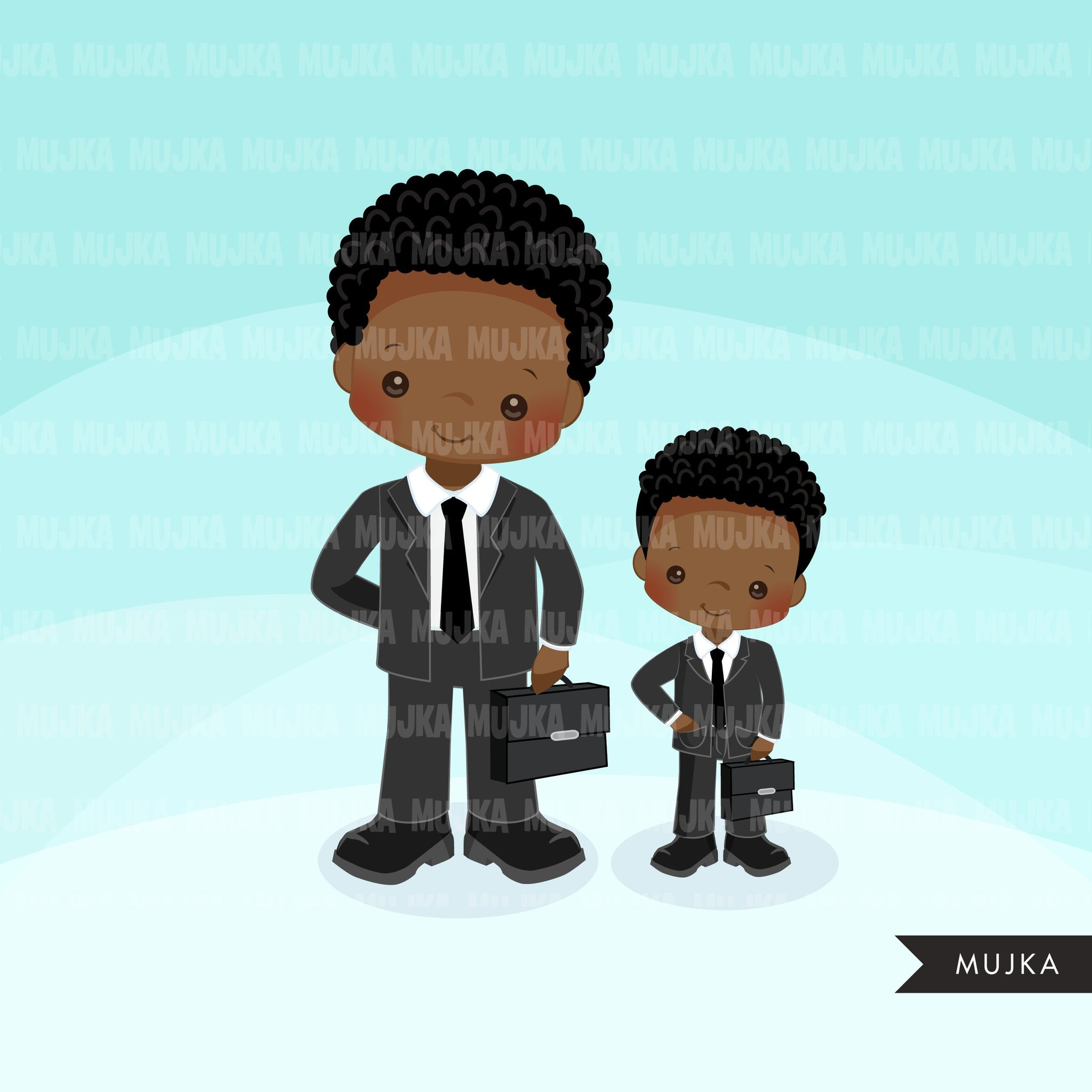 Boy boss little entrepreneur clipart. Father's Day, Father and Son