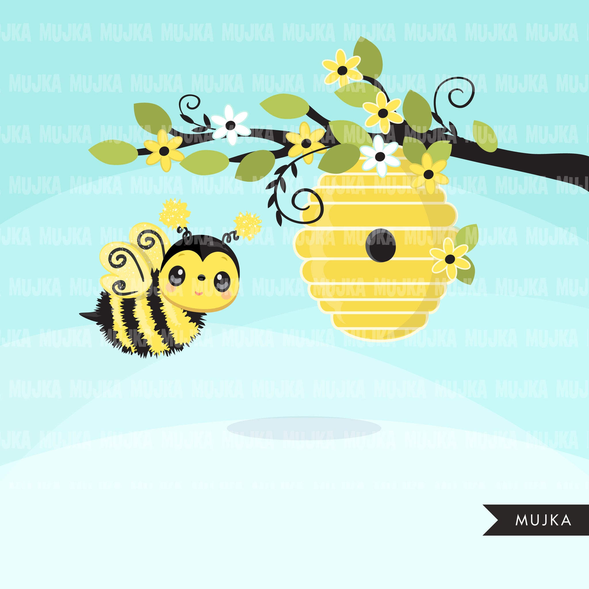 Bumblebee, animal clipart spring summer