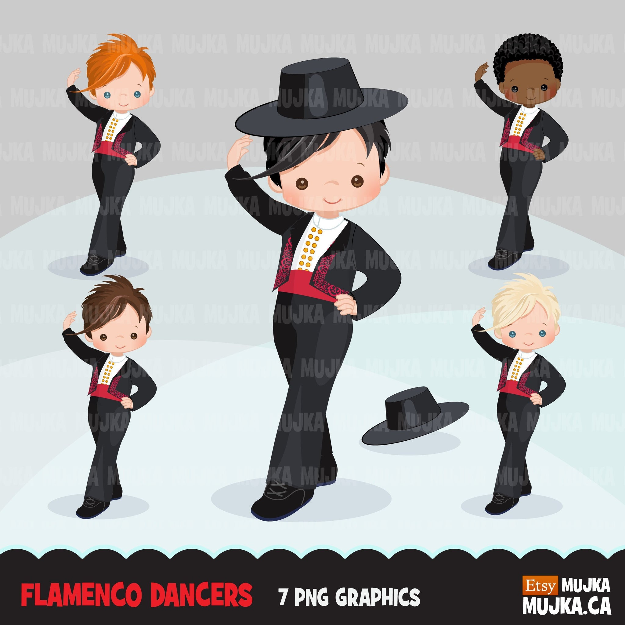 Flamenco clipart for Boy, Spanish Flamenco dancers