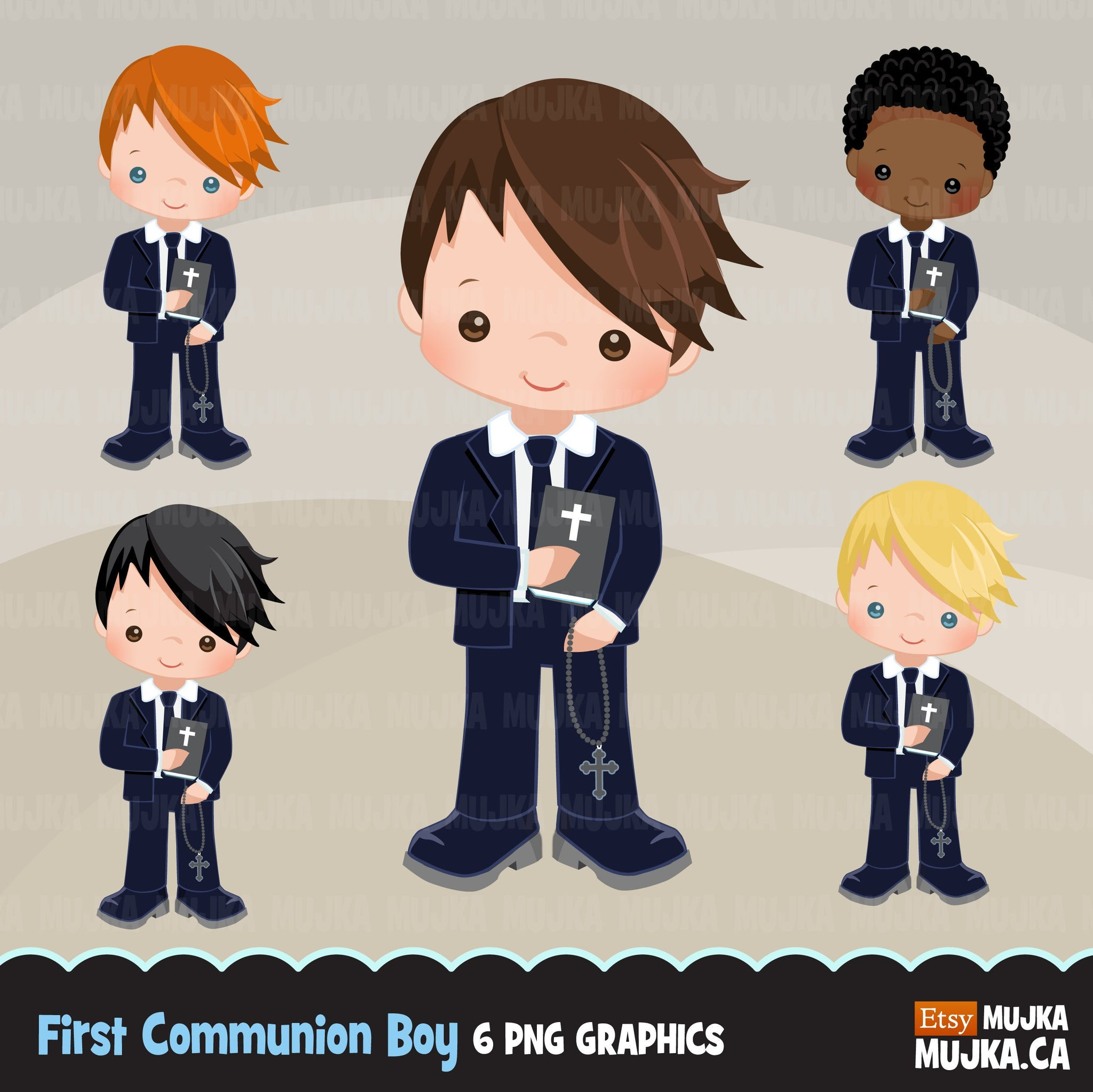 First Communion Clipart for Boy Add On Blue Suit religious