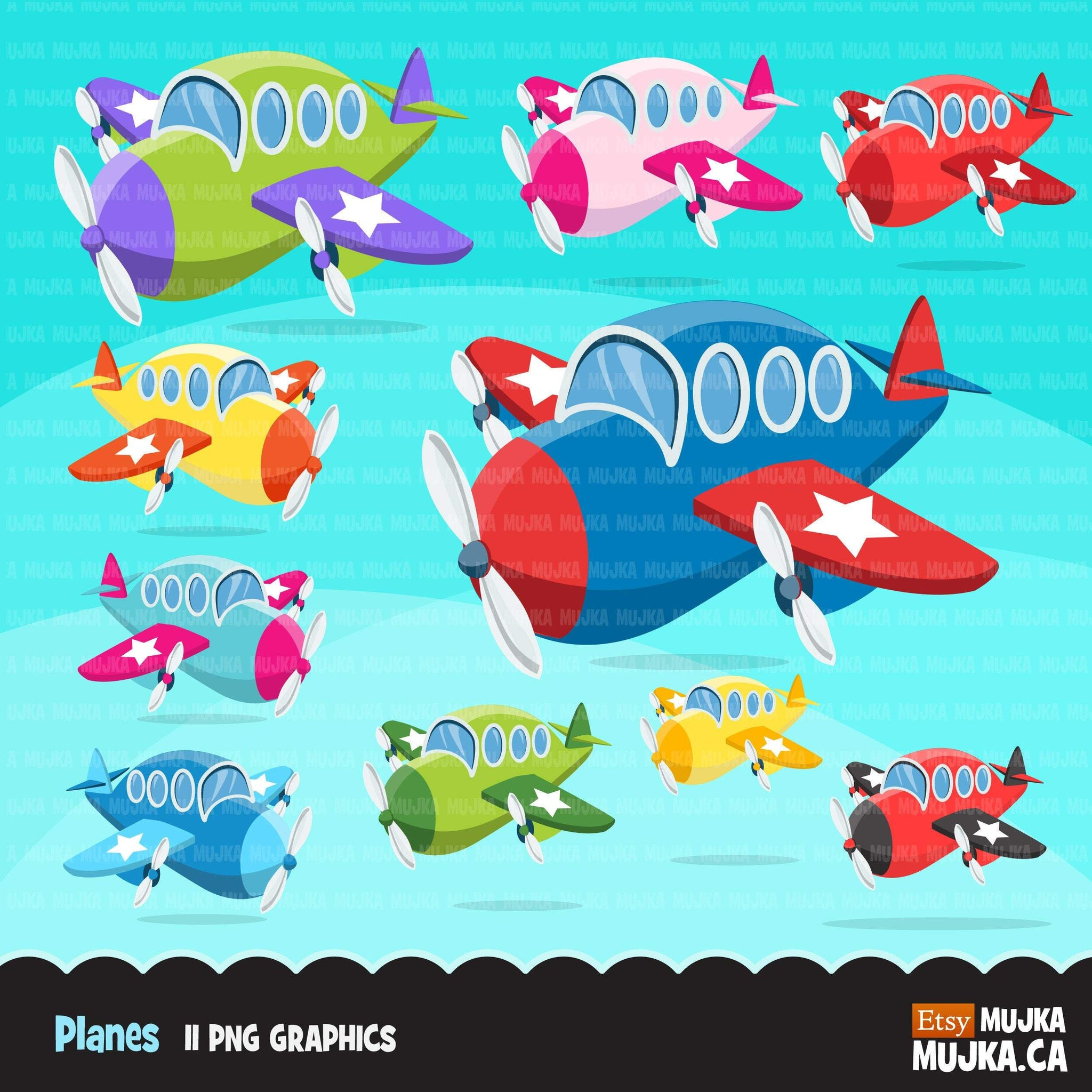 Plane clipart, airplane Air vehicles