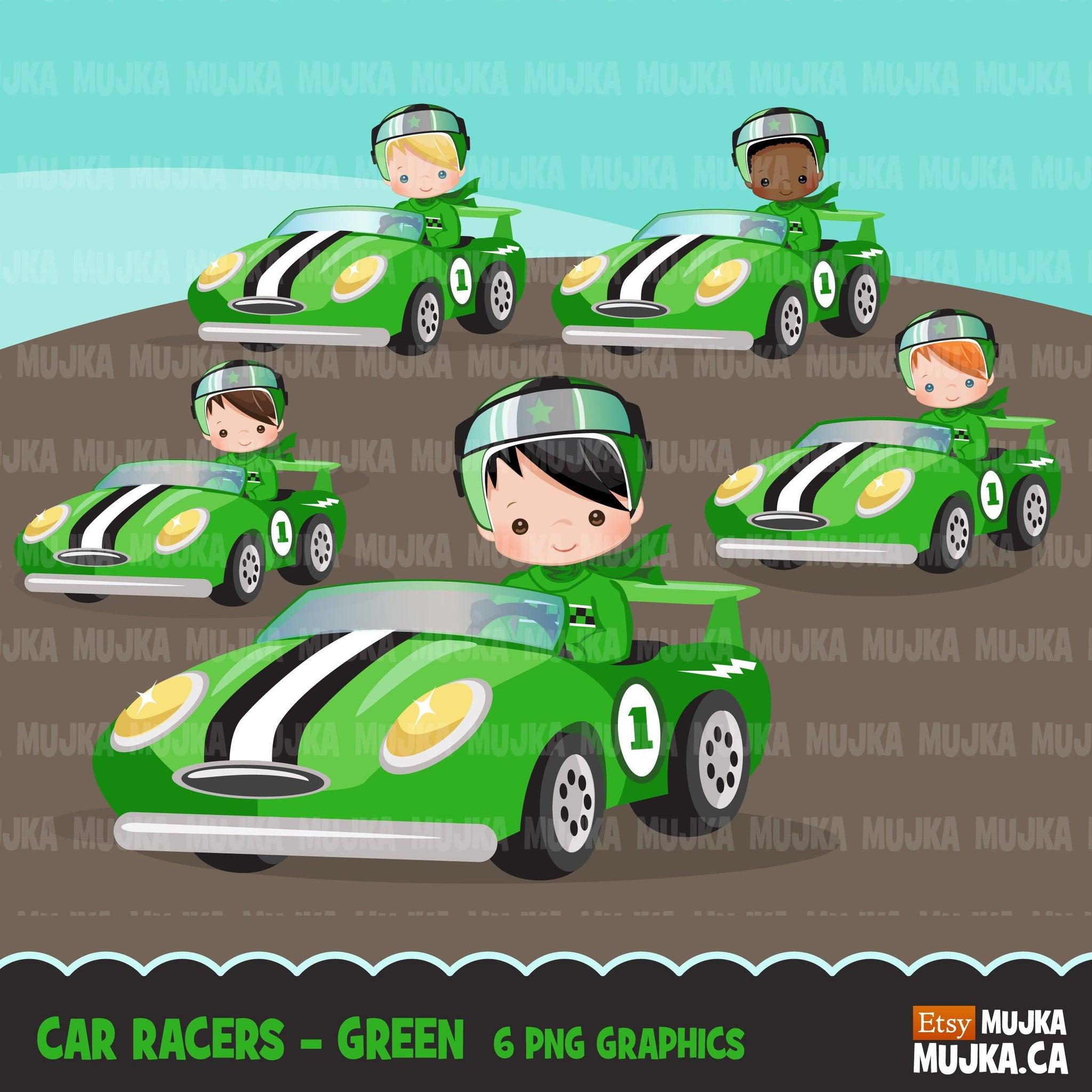 Car Racing Clipart for boys Race car driver Formula 1 graphics