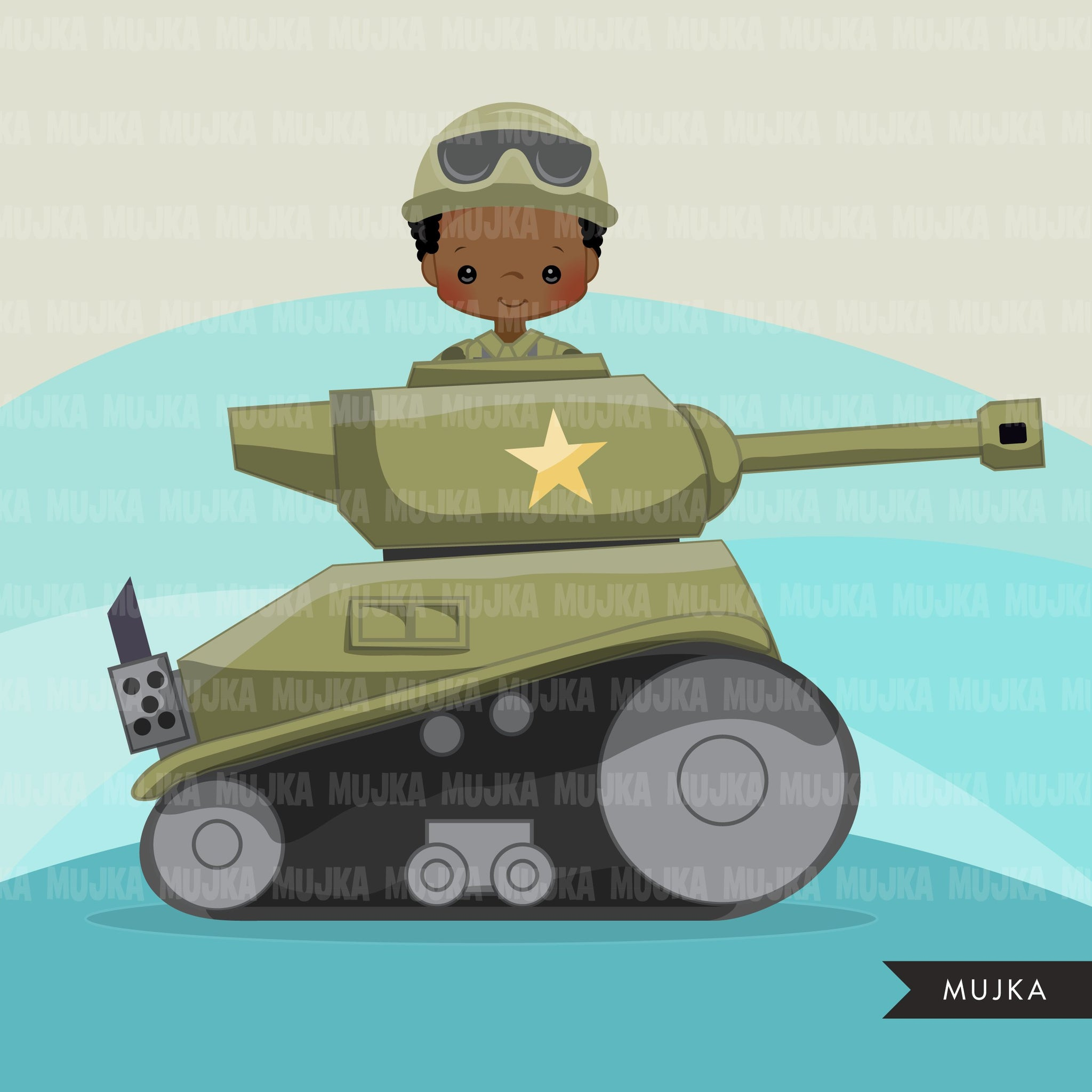 Tank soldier Army clipart, Little soldier patriot  boy graphics