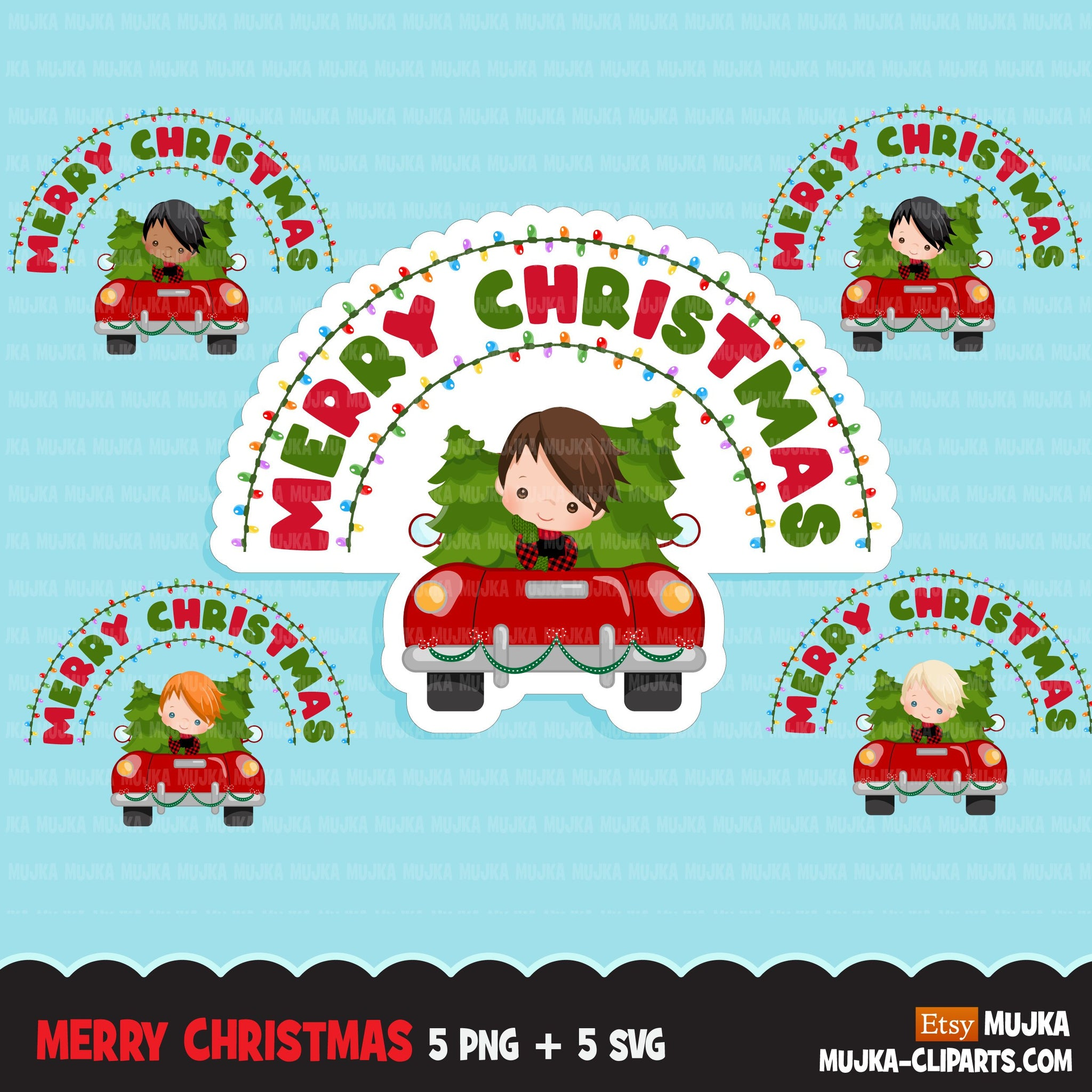 christmas png digital merry christmas red truck htv sublimation image transfer clipart t-shirt boy
