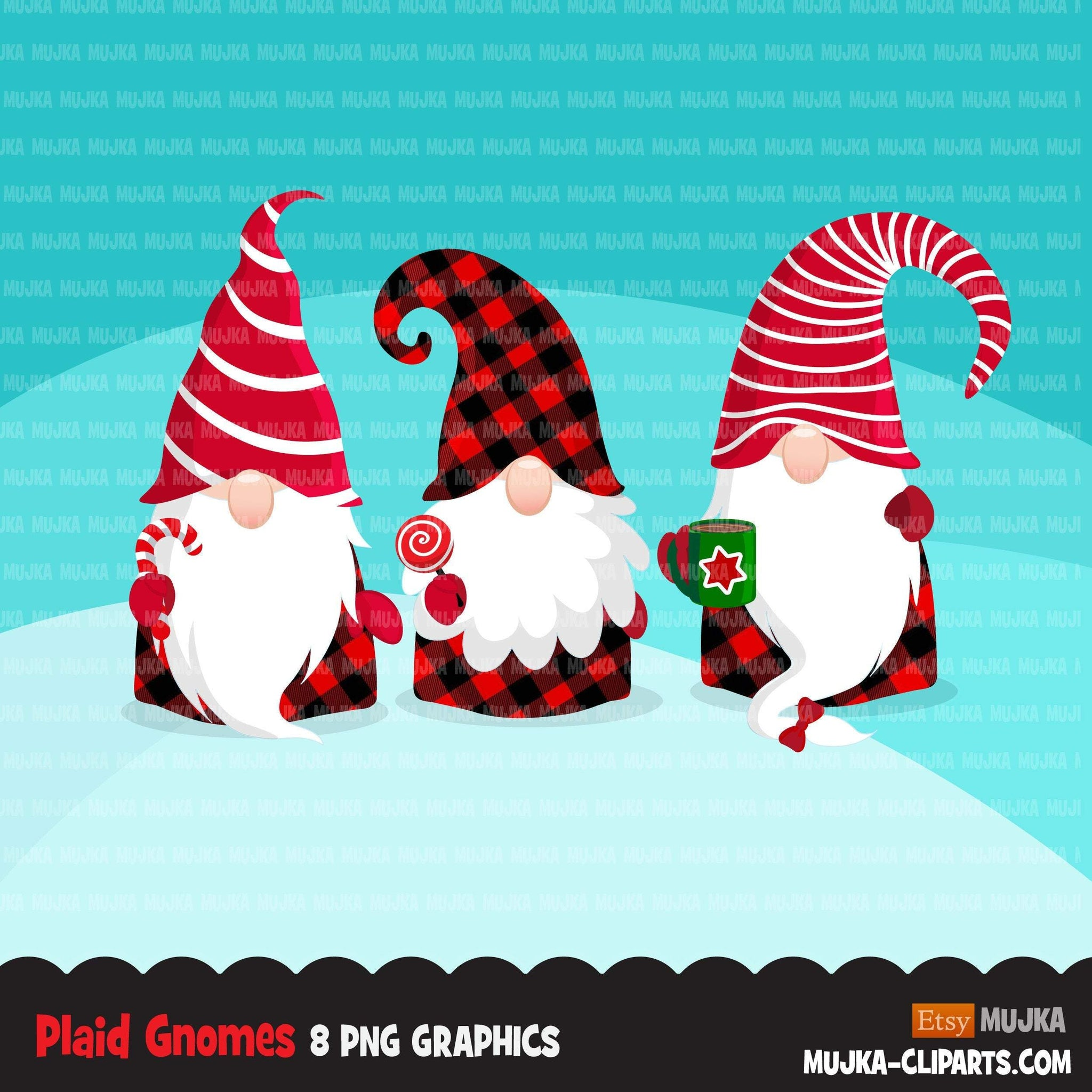 Christmas gnomes PNG Clipart, Black gnomes in plaid Gnome graphics, Nordic Holiday, noel, cute graphics