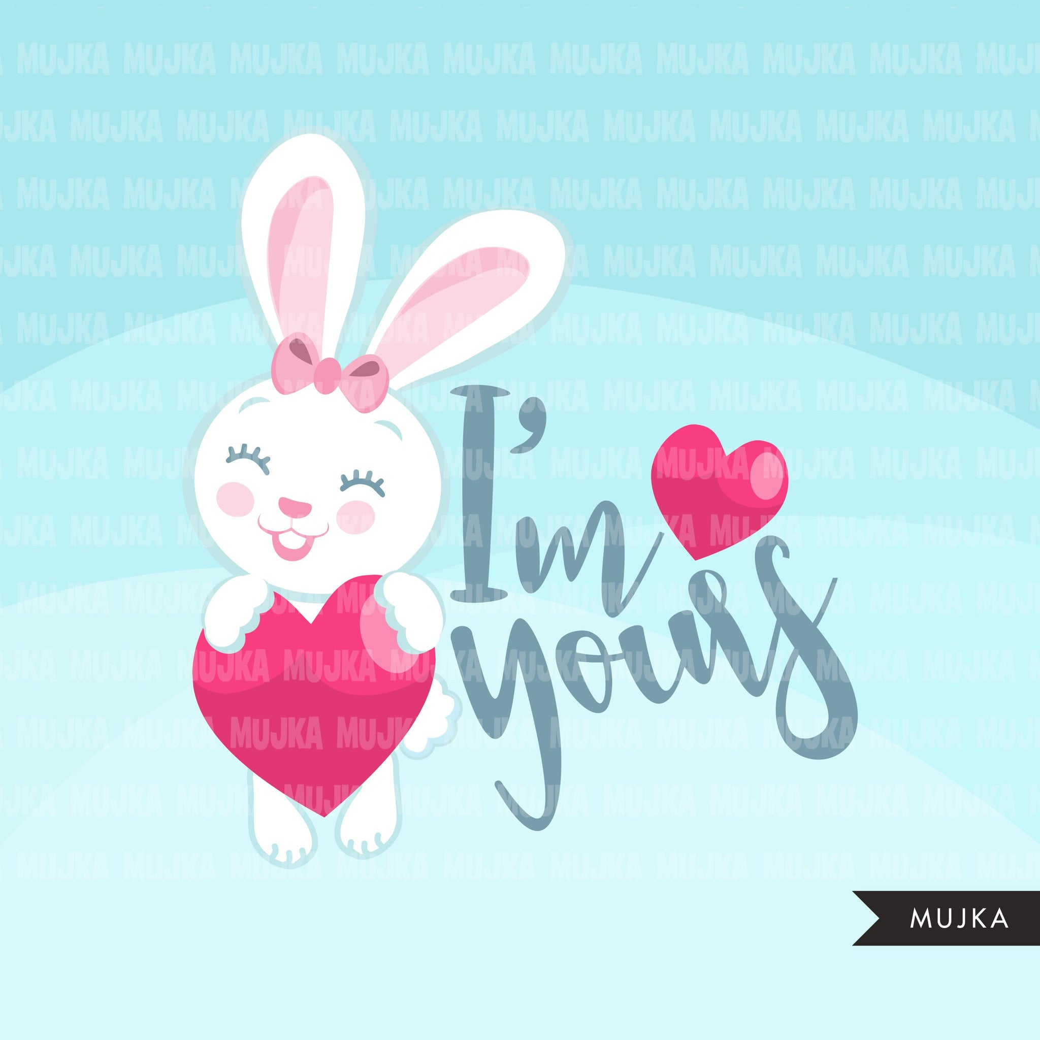 Valentine Quotes Clipart, All you need is love, cheers, I'm yours, thankful and blessed  graphics Valentine's Day commercial use clip art