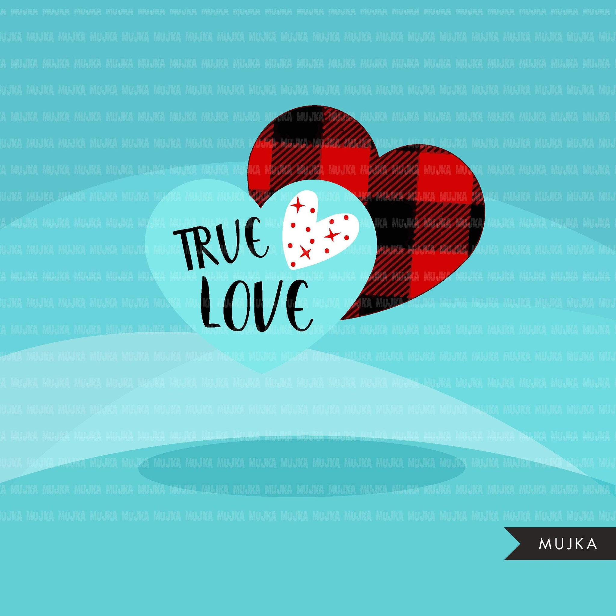 Valentine Hearts Clipart, Love Quotes, zebra, plaid, leopard, polka dots pattern heart graphics Valentine's Day commercial use clip art
