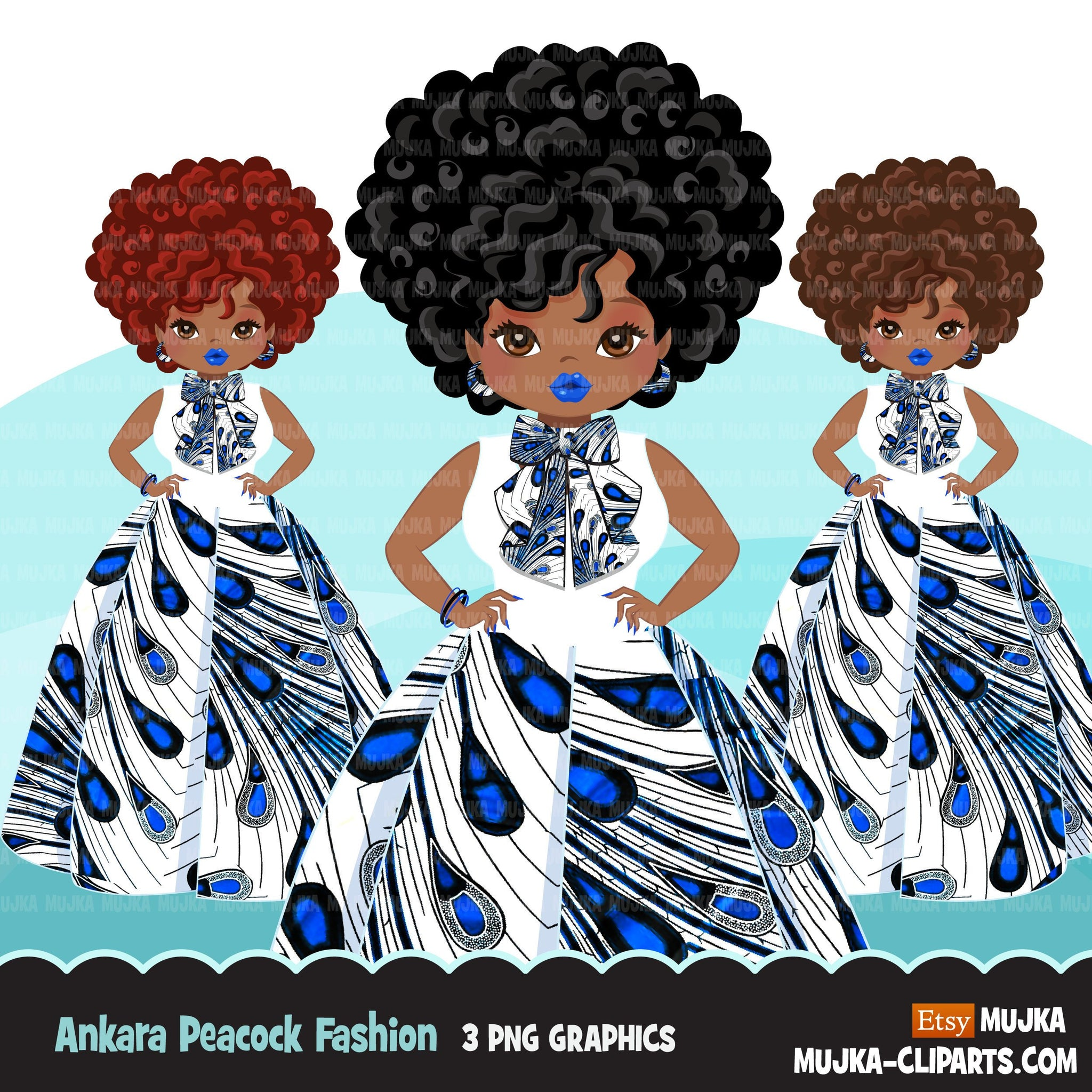 Black woman clipart avatar, Ankara peacock print bow tie ...