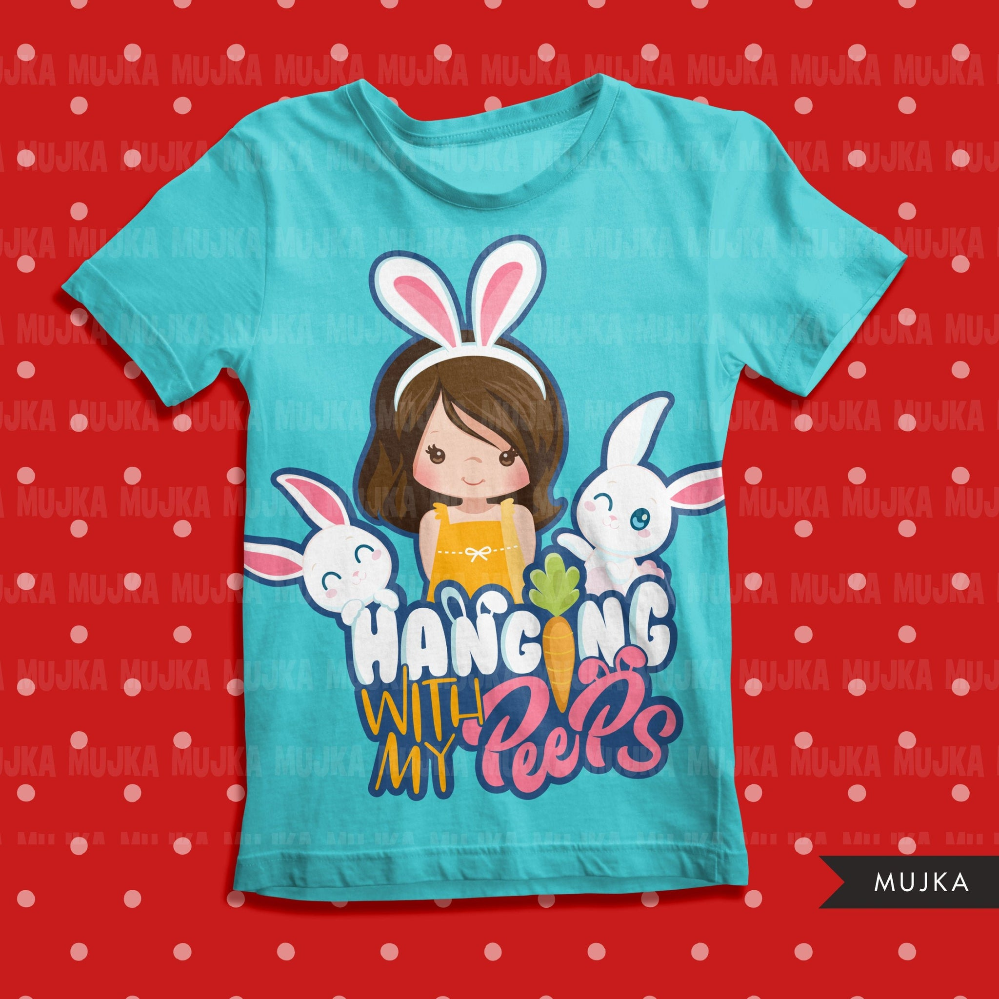 easter png digital hanging with my peeps htv sublimation image transfer clipart t-shirt graphics little girl