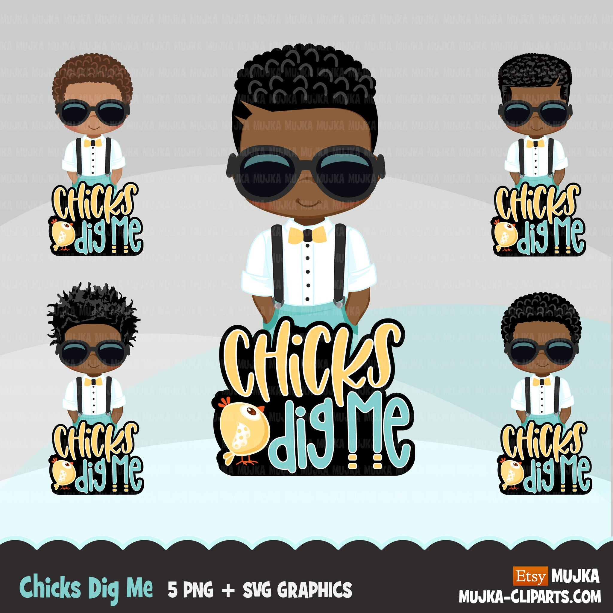 Easter PNG digital, Chicks dig me Printable HTV sublimation image transfer clipart, t-shirt Afro black boy graphics