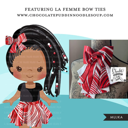 Black girl clipart avatar, Ankara kente RED hair bow tie and skirt, fashion graphics black history afro girl clip art PNG