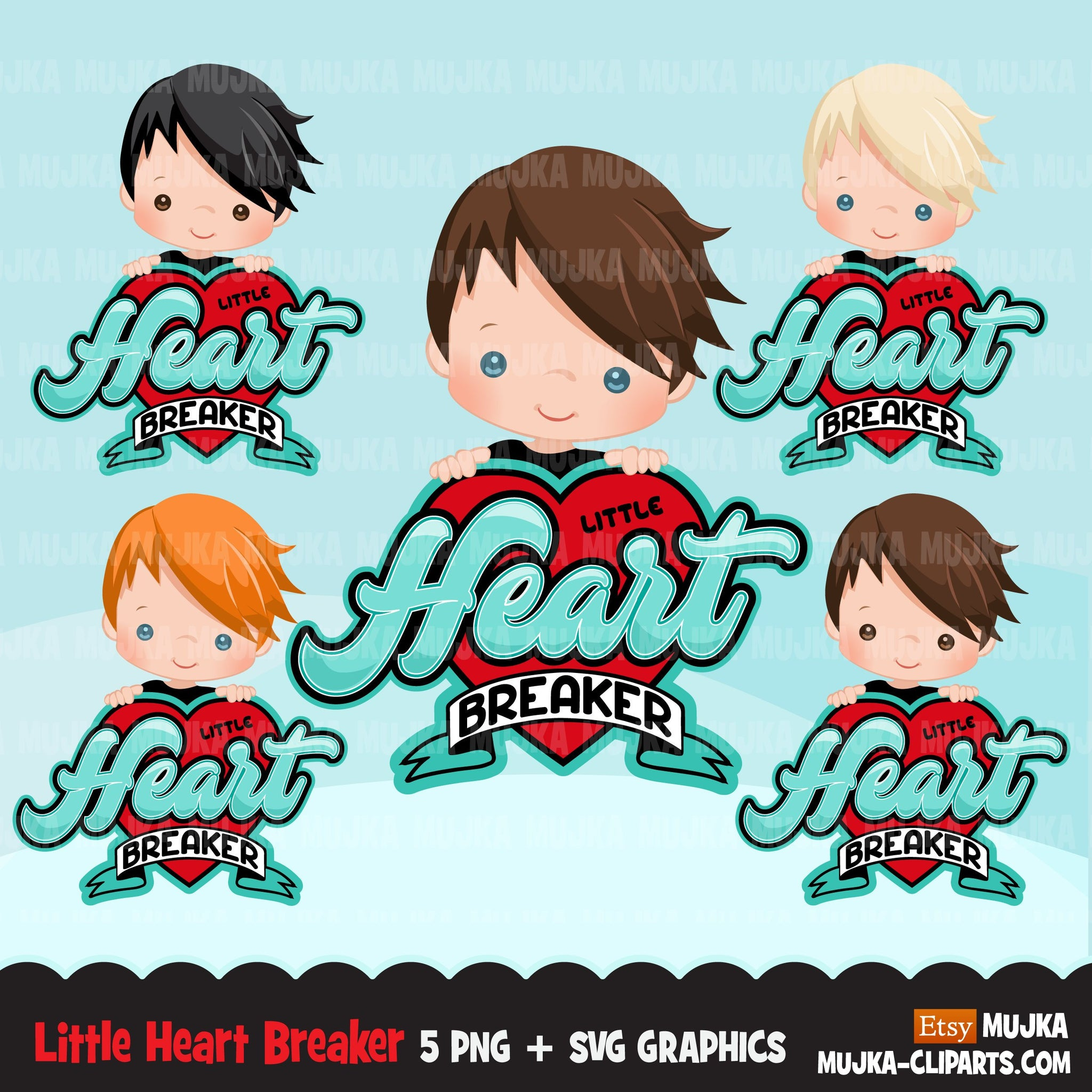 valentines day png digital little heart breaker sublimation image transfer clipart t-shirt graphics little boy
