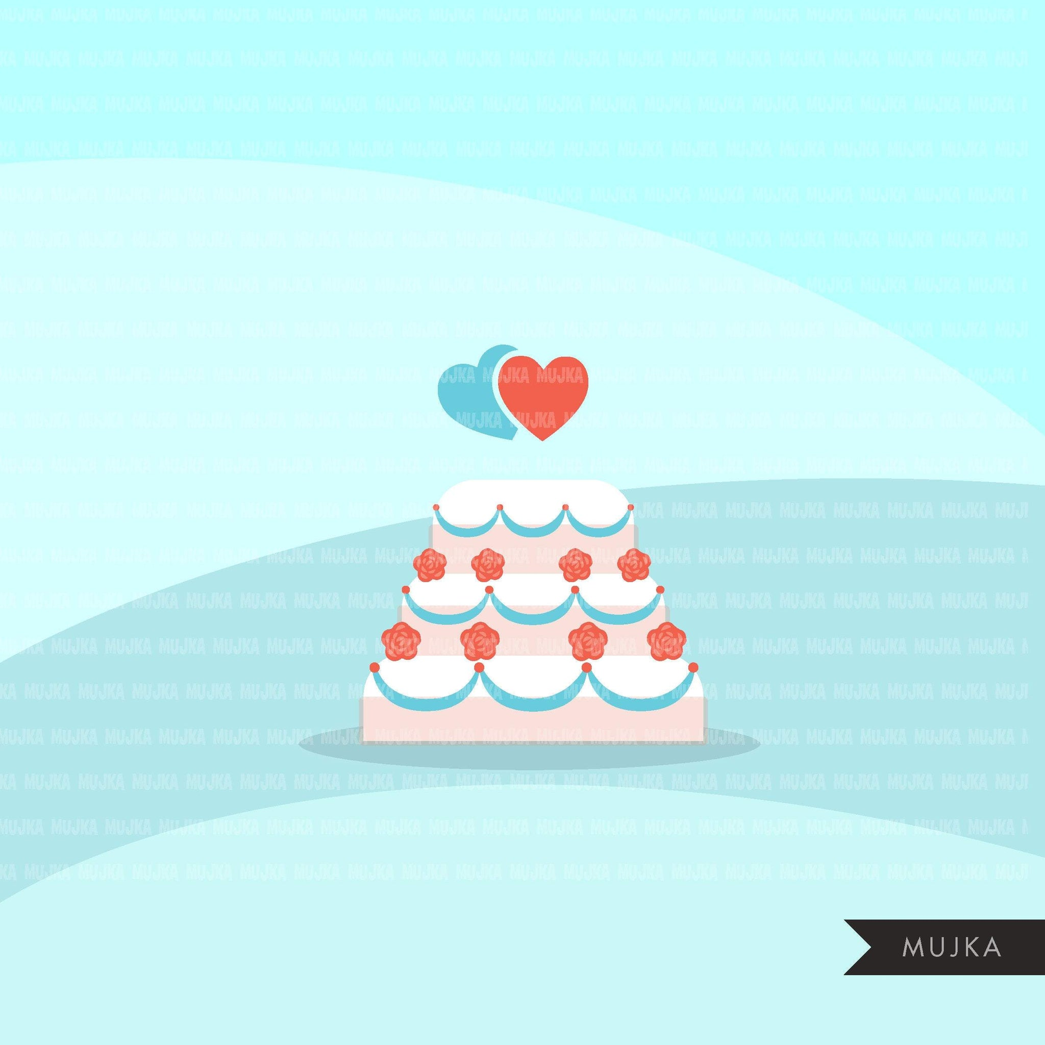 Gnomes wedding elements clipart,cake, rings, bouquet, balloons wedding graphics commercial use Png