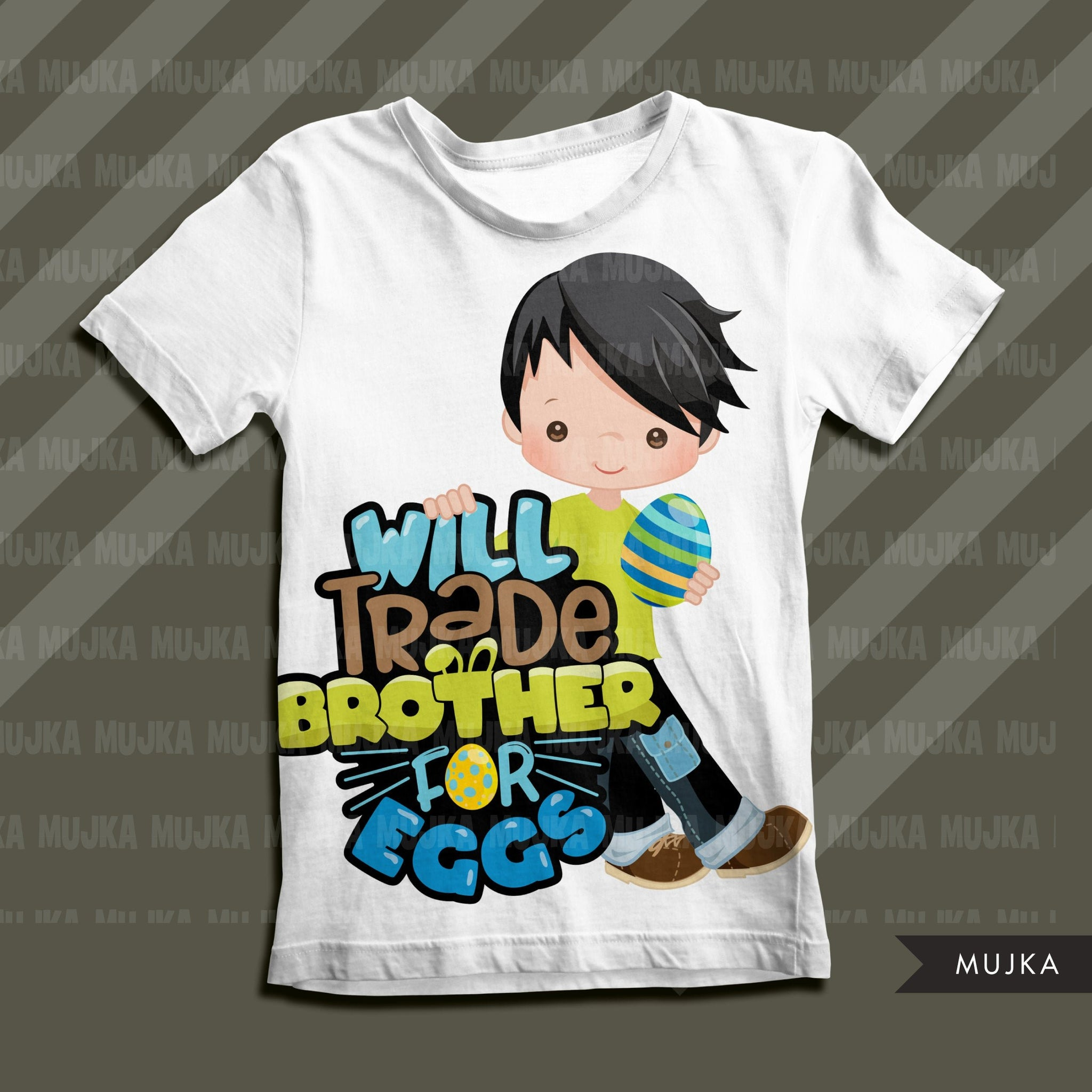 Easter PNG digital, Will trade brother for eggs Printable HTV sublimation image transfer clipart, t-shirt boy graphics