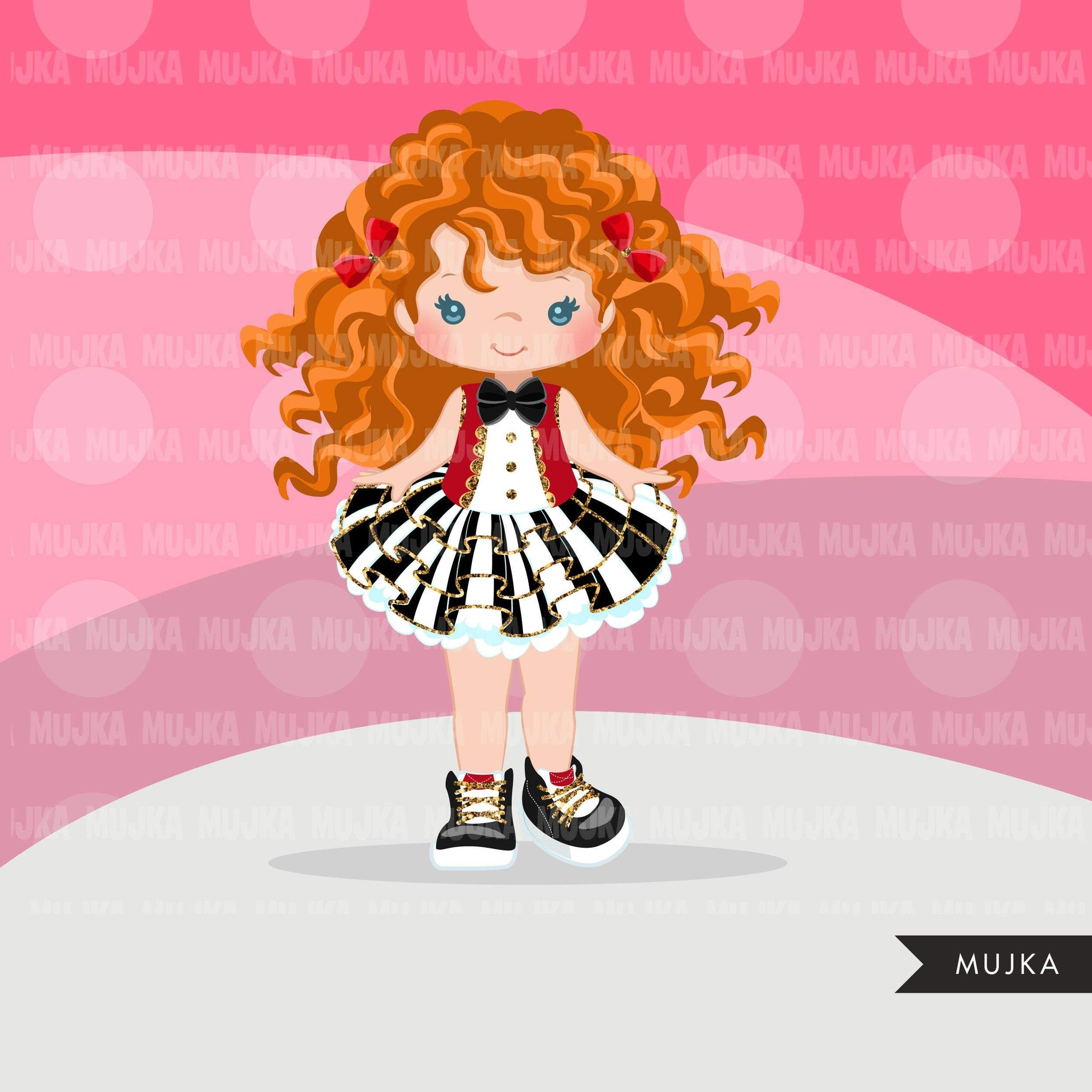 Circus Clipart, glitter tutu girl fashion graphics, big top, carnival png, tutu with boots