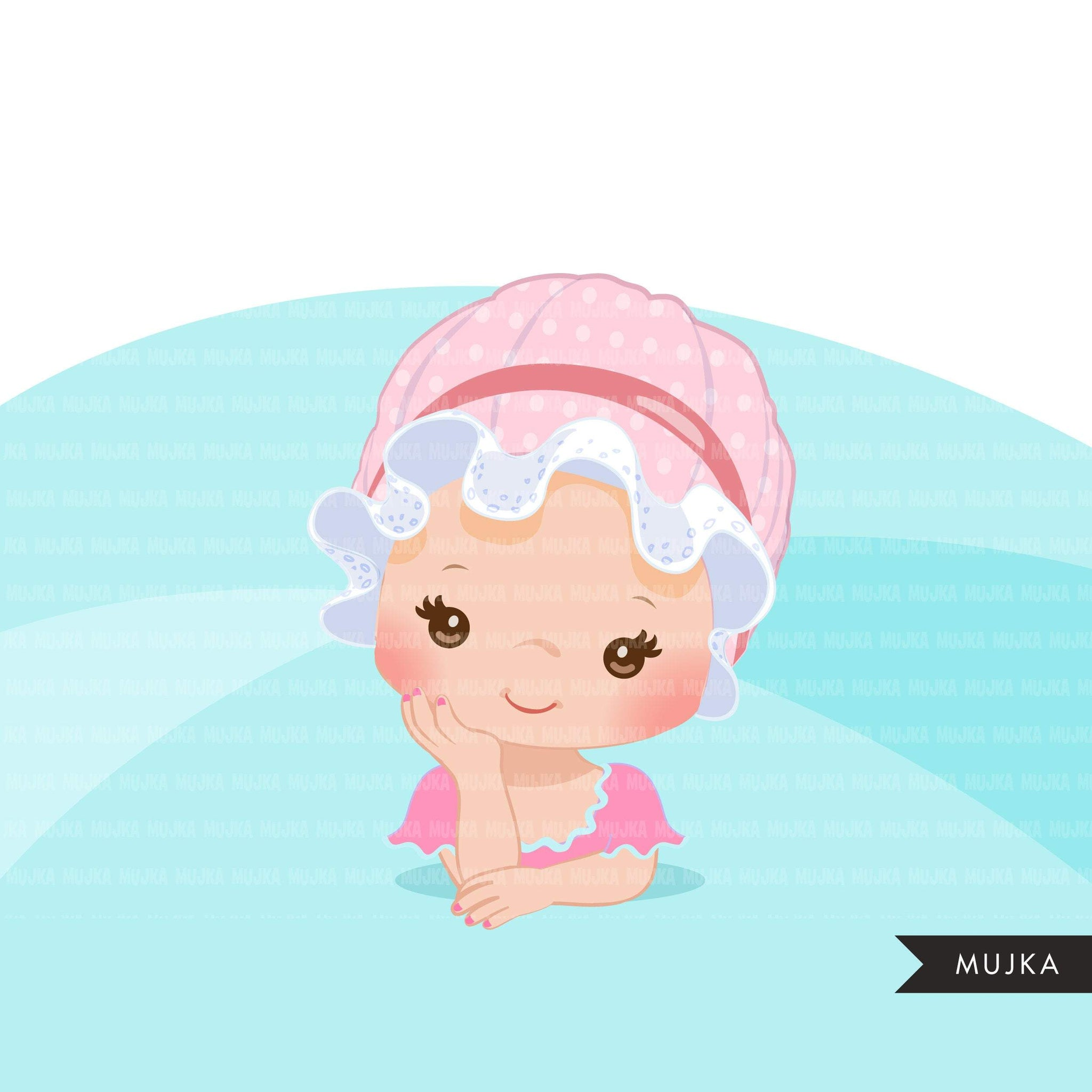 Baby Boss Clipart Girls With Cute Bonnet Hat Baby Girl Baby Shower Mujka Cliparts