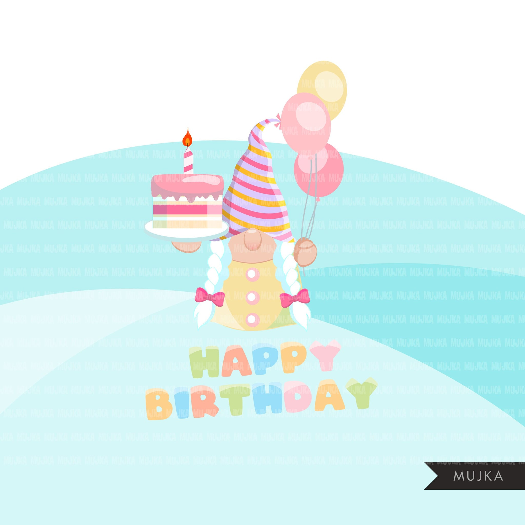 Birthday gnomes Clipart, birthday graphics, pastel, rainbow birthday party Gnome graphics, png digital sublimation designs