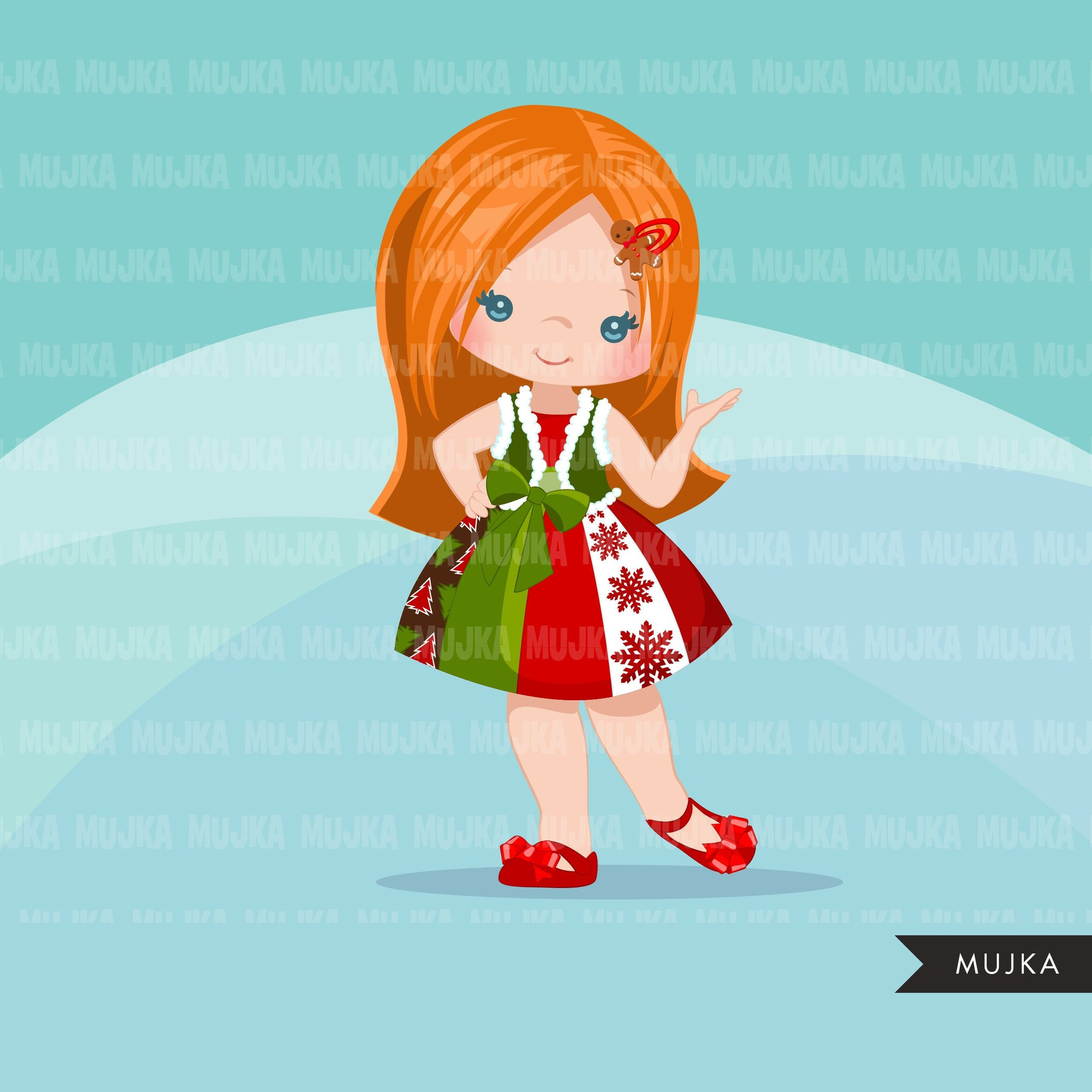 Christmas Clipart, little girl christmas outfit, Noel graphics, Holiday characters, png sublimation digital clip art