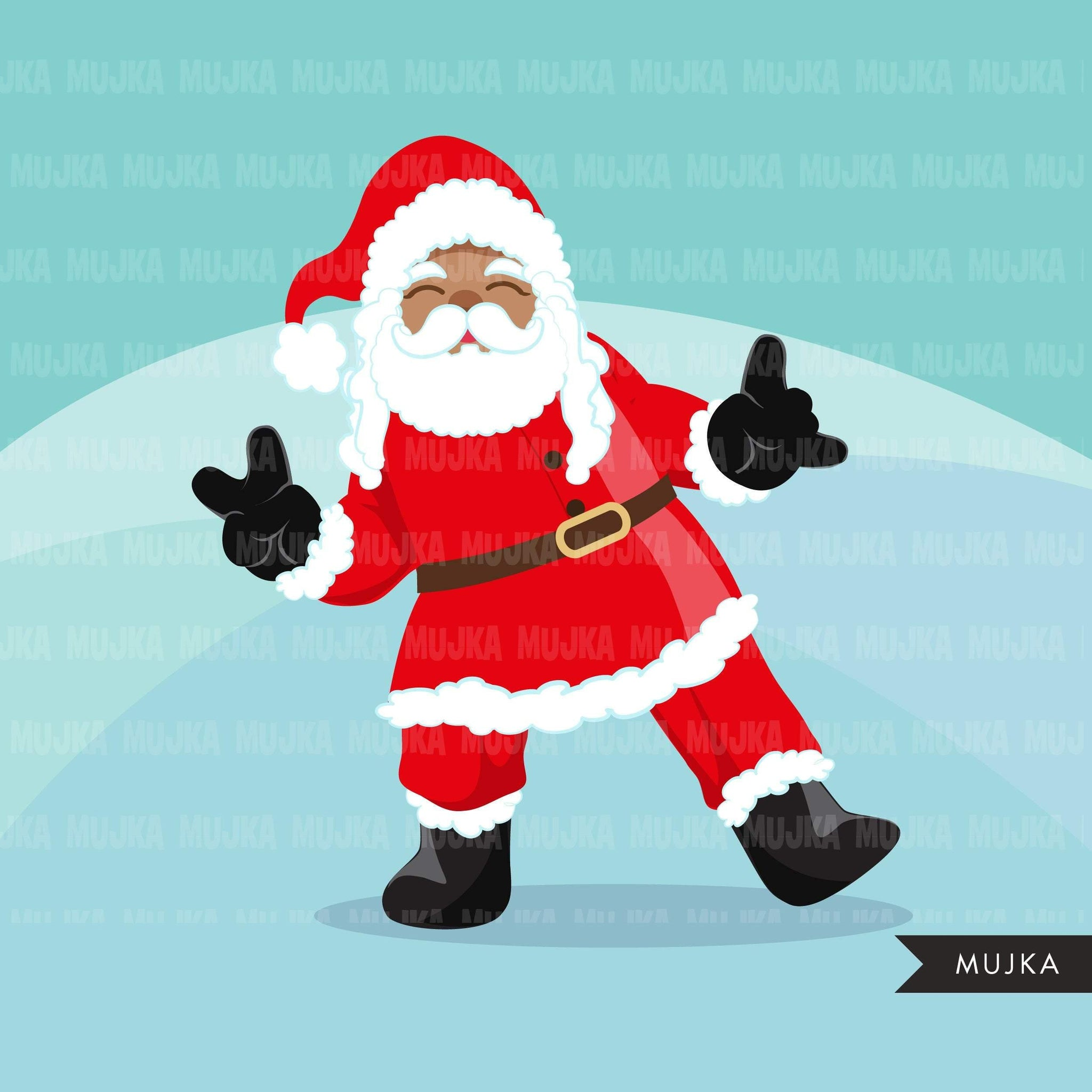 Santa selfie Clipart, Christmas selfie graphics, Santa with cellphone, Noel graphics, Holiday characters, png sublimation clip art