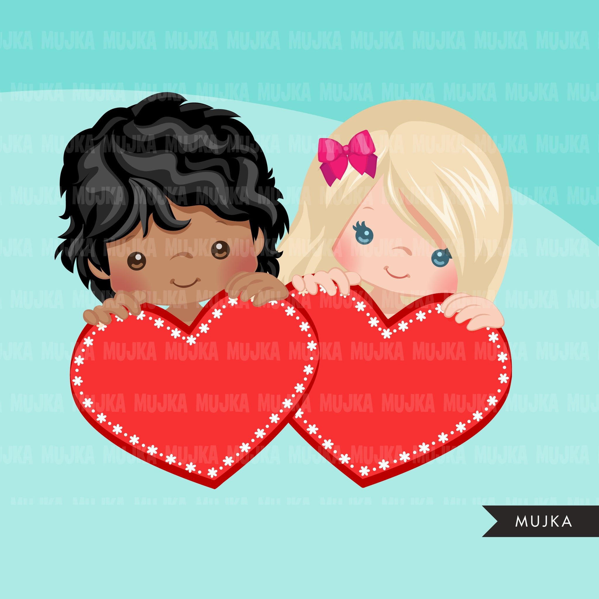 Valentine Clipart, peeking kids BUNDLE, Valentine's Day boys, girls, valentine gifts, commercial use graphics, png clip art