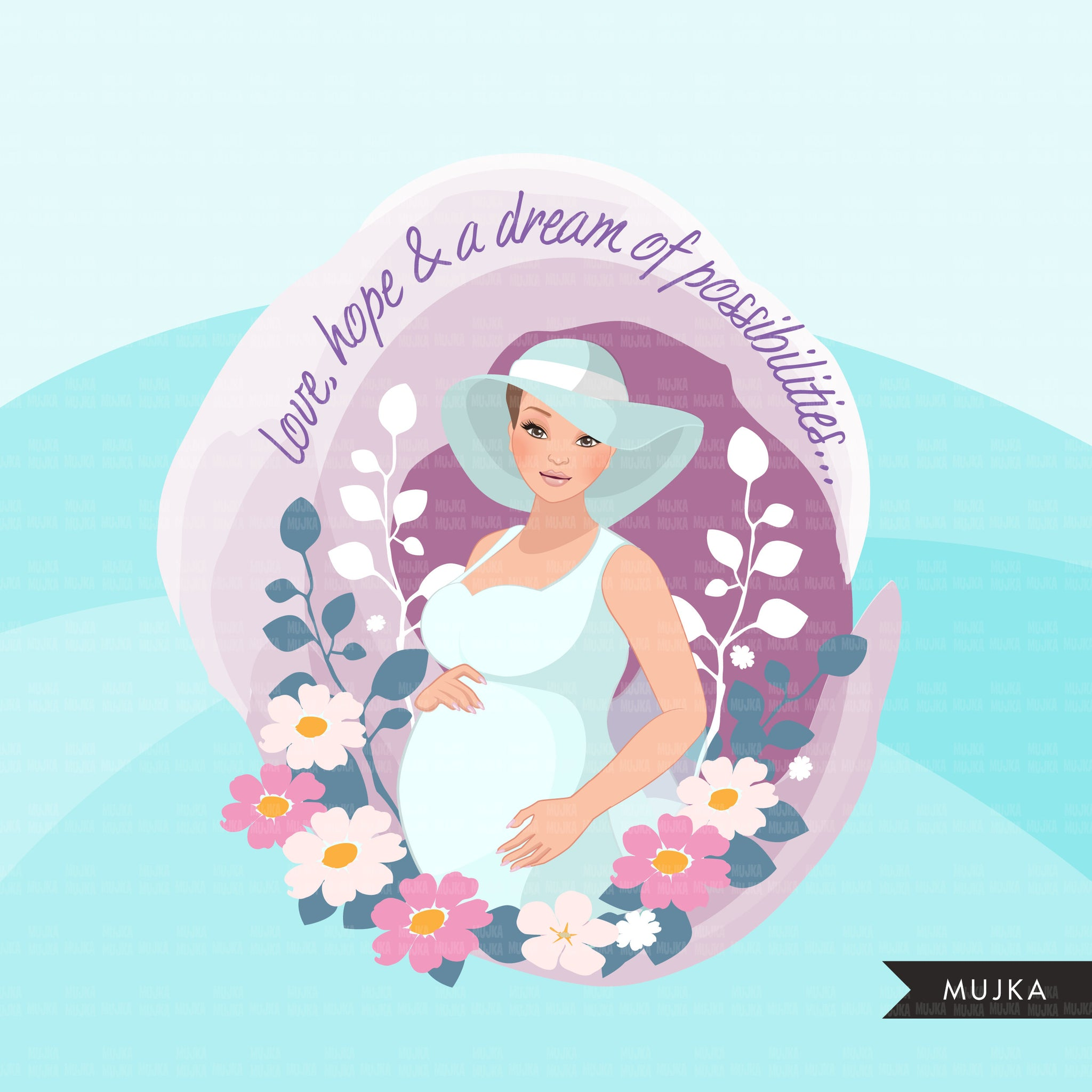 Mothers Day clipart, mother's day sublimation designs digital download, pregnancy, baby shower favors, wall art, pregnant woman png