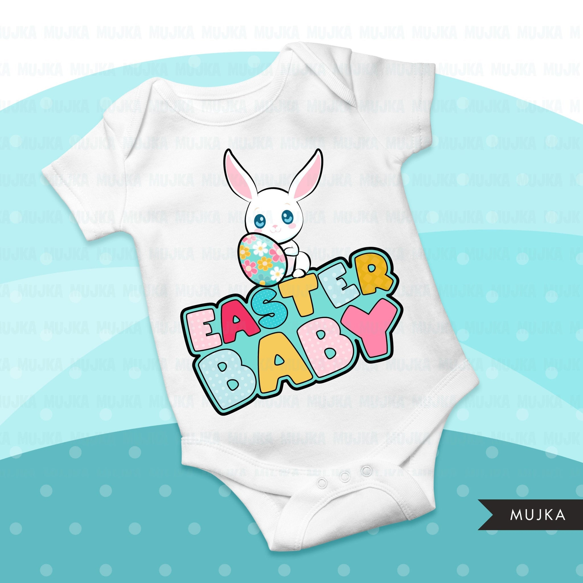 Easter sublimation designs, Easter egg, Easter baby, Easter bunny shirt design, polka dot, first birthday, digital download files for cricut