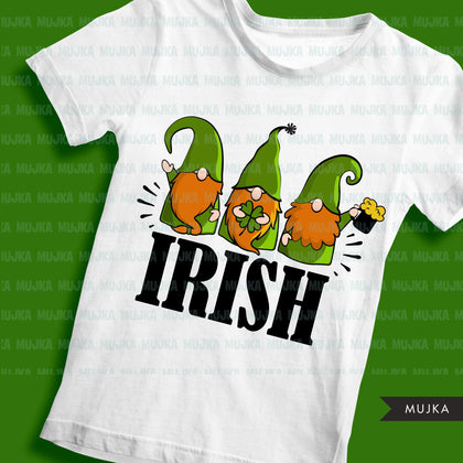 St Patricks Day Gnome, sublimation designs, leprechaun gnome, st pattys day shirt, irish png, digital download files for cricut