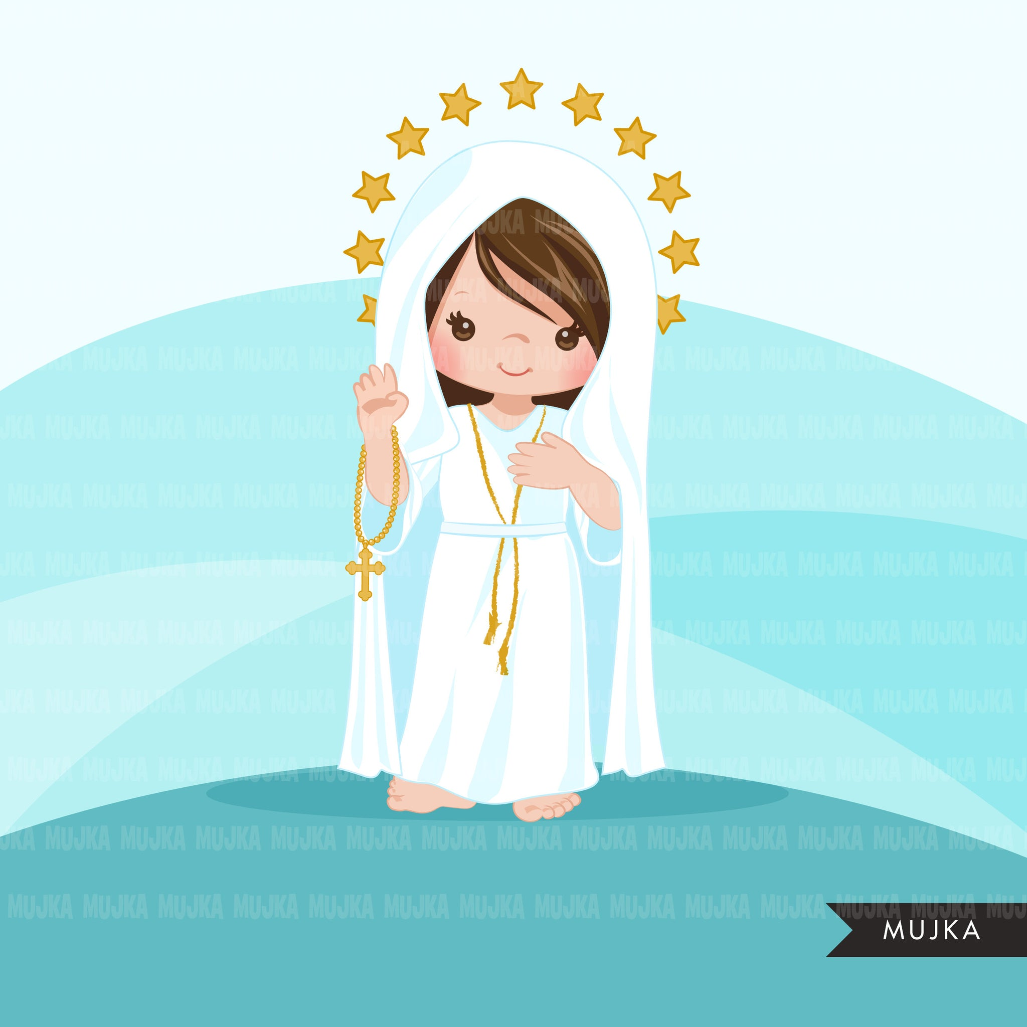 Our Lady of Fatima clipart, Saint religious sublimation designs digital download, catholic design, Christian png file for cricut, png
