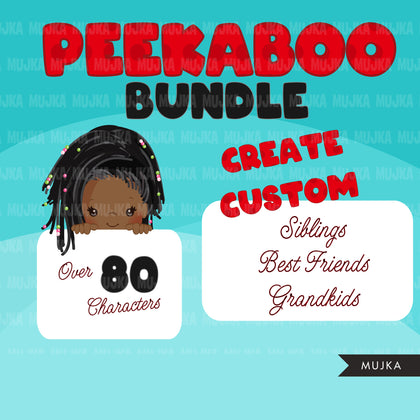 Peekaboo Clipart Bundle, Peekaboo girl, peekaboo boy, Best friends, siblings sublimation designs