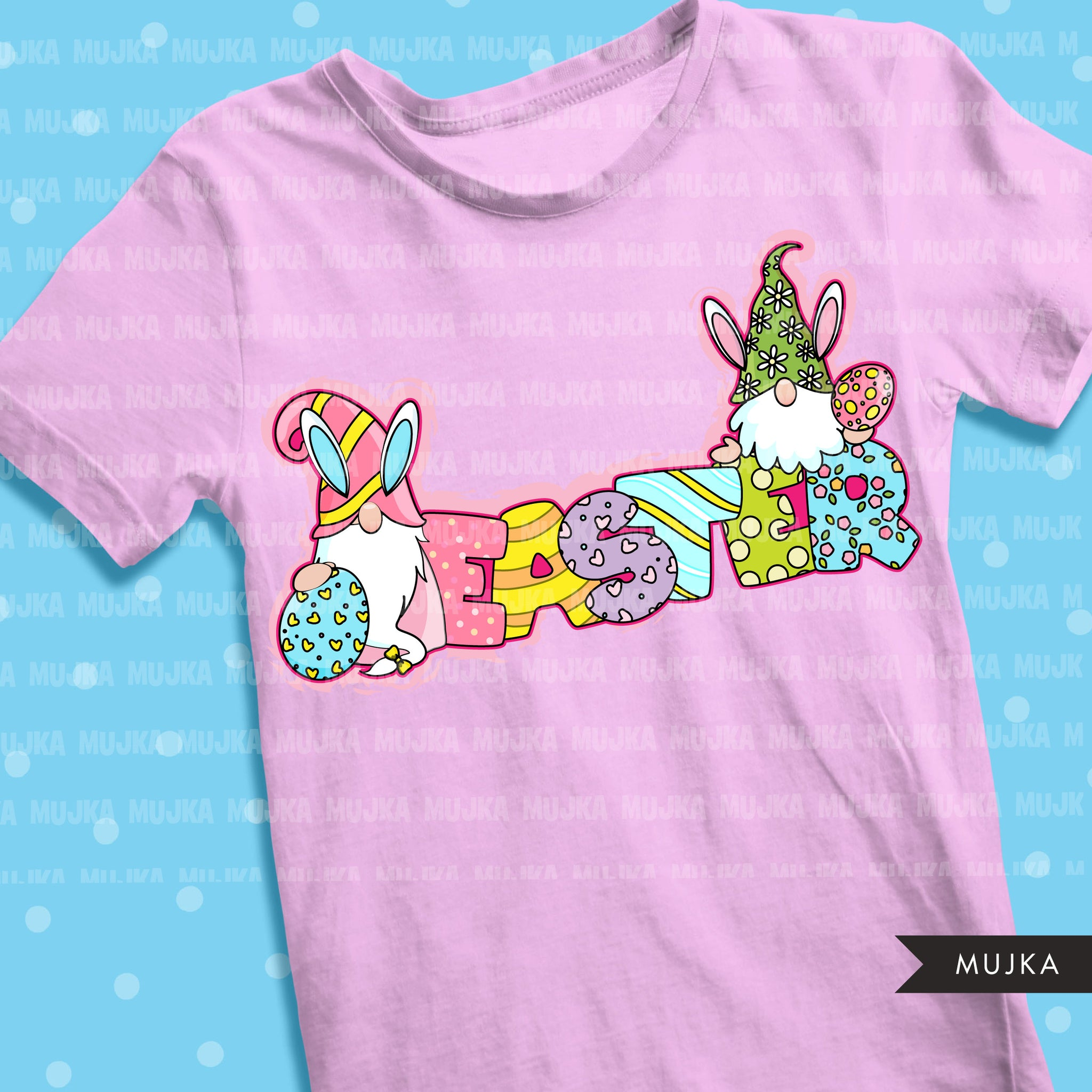 Easter gnome clipart, easter sublimation designs digital download, easter shirt design, easter egg, PNG digital files for cricut