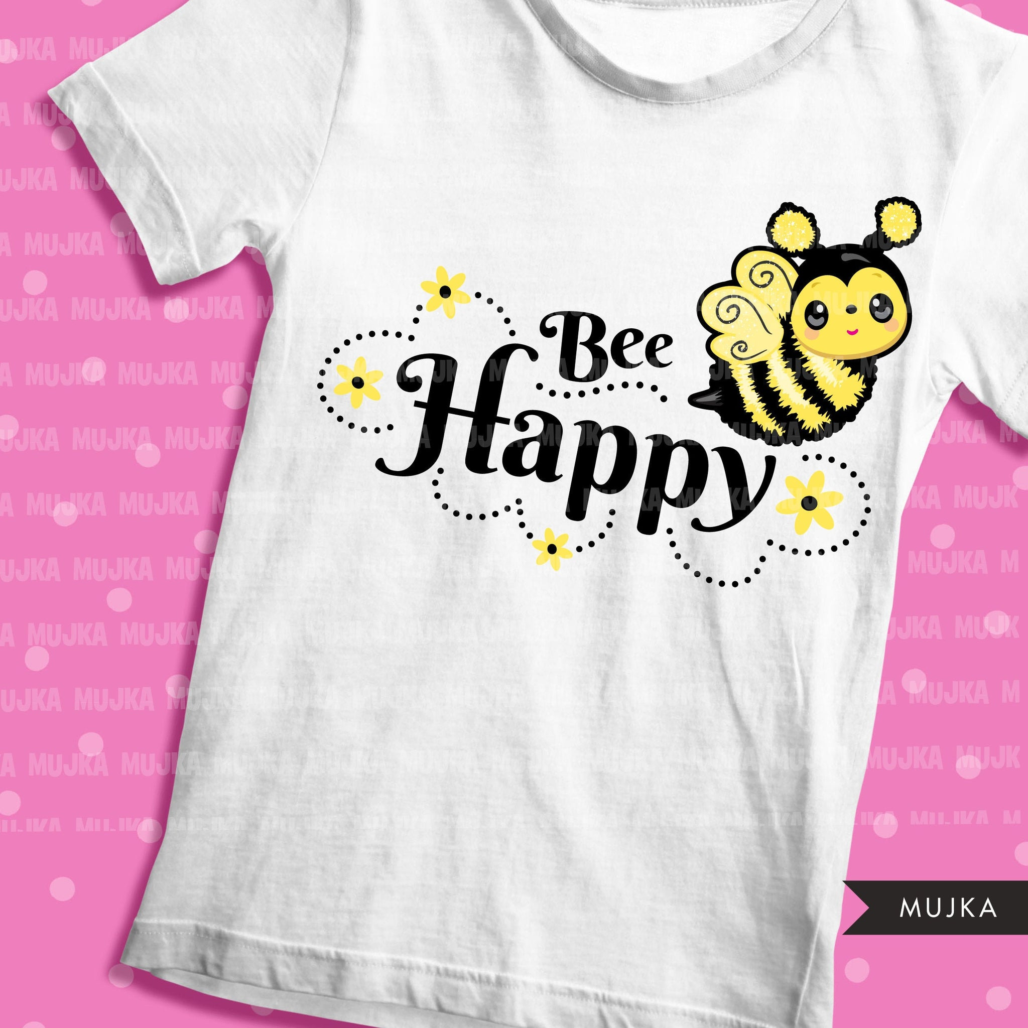 Bee Happy clipart, Bee happy sublimation designs digital download, Easter spring shirt, Bee Shirt Png, PNG files for cricut downloads