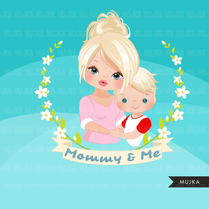 Mothers Day clipart, mommy and me sublimation designs, digital graphics, mama shirt, mama gift, mother daughter, mother son png