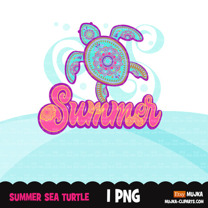 Summer clipart, sea turtle png sublimation designs digital download, summer vibes png, summer vacation shirt digital download for cricut