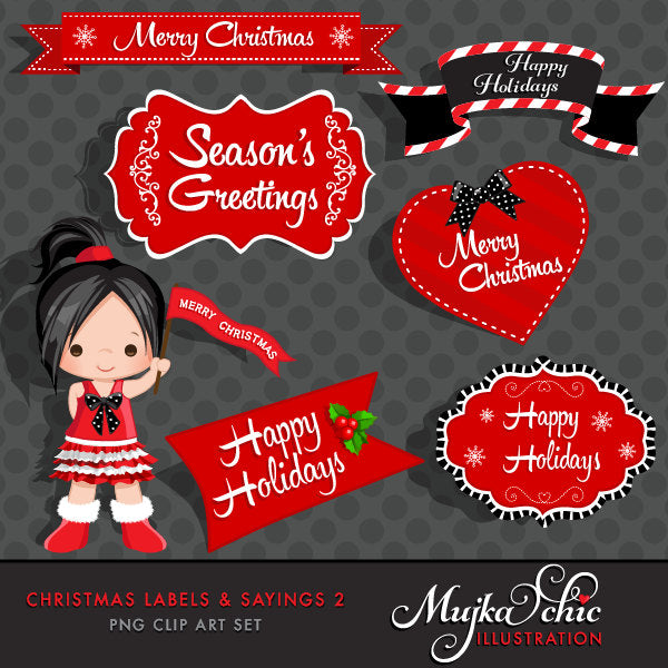 Christmas Frames & Labels, girl